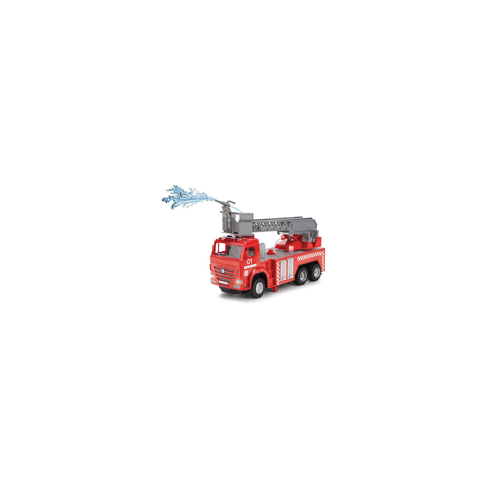 Пожарная машина, свет+звук, ТехнопаркЭта пожарная машина приведет в восторг всех мальчишек! Игрушка на пульте ДУ может передвигаться во всех направлениях. Машина прекрасно детализирована и выглядит как настоящая! Раздвижная лестница с кабиной для спасателя может подниматься и крутиться во всех направлениях. Машина имеет звуковые сигналы, фары и проблесковые маячки горят, как в настоящем спасательном автомобиле. Если налить воду в специальный резервуар в корпусе автомобиля, из шланга польется вода! Все детали игрушки выполнены из экологичного безопасного для детей пластика. Ребенок придет в восторг от своей собственной пожарной машины, кроме того, во время игры можно напомнить малышу правила обращения с огнем и телефон службы спасения. <br><br>Дополнительная информация:<br><br>- Материал: пластик, металл.<br>- Комплектация: пожарная машина, пульт ДУ.<br>- Размер машины: 25 см.<br>- Звуковые и световые эффекты.<br>- Брызгает водой при нажатии на кнопку на корпусе машины или на пульте управления.<br>- Движение вперед-назад, влево-вправо.<br>- Раздвижная лестница.<br>- Открываются отсеки для инвентаря.<br>- Горят фары и мигалка.<br>- Русская озвучка.<br><br>Пожарную машину, свет+звук, Технопарк  , можно купить в нашем магазине.<br><br>Ширина мм: 740<br>Глубина мм: 390<br>Высота мм: 860<br>Вес г: 900<br>Возраст от месяцев: 36<br>Возраст до месяцев: 84<br>Пол: Мужской<br>Возраст: Детский<br>SKU: 4408254