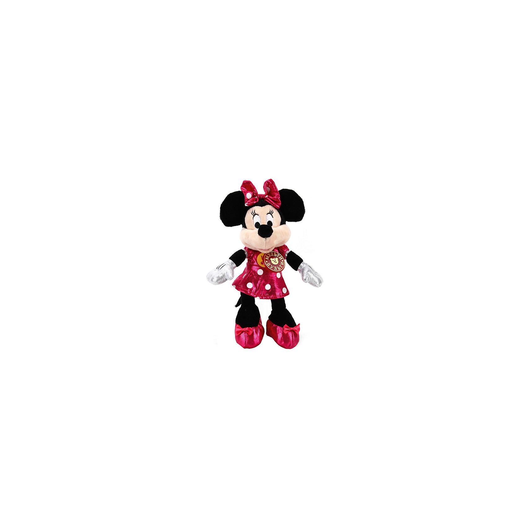 Мягкая игрушка Минни маус 16см, Мульти-пультиЛюбимые герои<br>Очаровательная мышка Минни (Minnie Mouse) порадует всех любительниц мультфильмов Disney. Она знает много веселых фраз, поэтому с ней никогда не будет скучно! Игрушка выполнена из высококачественных гипоаллергенны материалов, очень приятна наощупь, похожа на героиню мультфильма. <br><br>Дополнительная информация:<br><br>- Материал: полиэстер, пластик, искусственный мех.<br>- Размер игрушки: 16 см.<br>- 6 фраз.<br>- Элемент питания: батарейки (в комплекте).<br><br>Мягкую игрушку Минни Маус 16см, Мульти-пульти , можно купить в нашем магазине.<br><br>Ширина мм: 500<br>Глубина мм: 390<br>Высота мм: 370<br>Вес г: 120<br>Возраст от месяцев: 36<br>Возраст до месяцев: 84<br>Пол: Унисекс<br>Возраст: Детский<br>SKU: 4408256