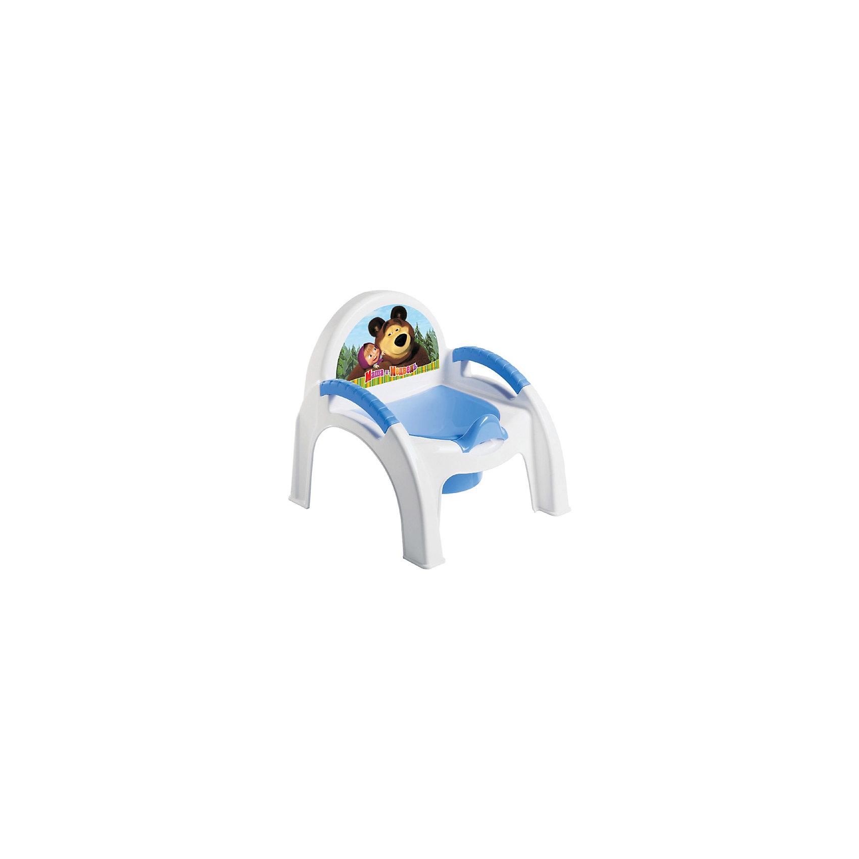 Пластишка Горшок-стульчик Маша и Медведь, Пластишка, магниты маша и медведь купить игрушку