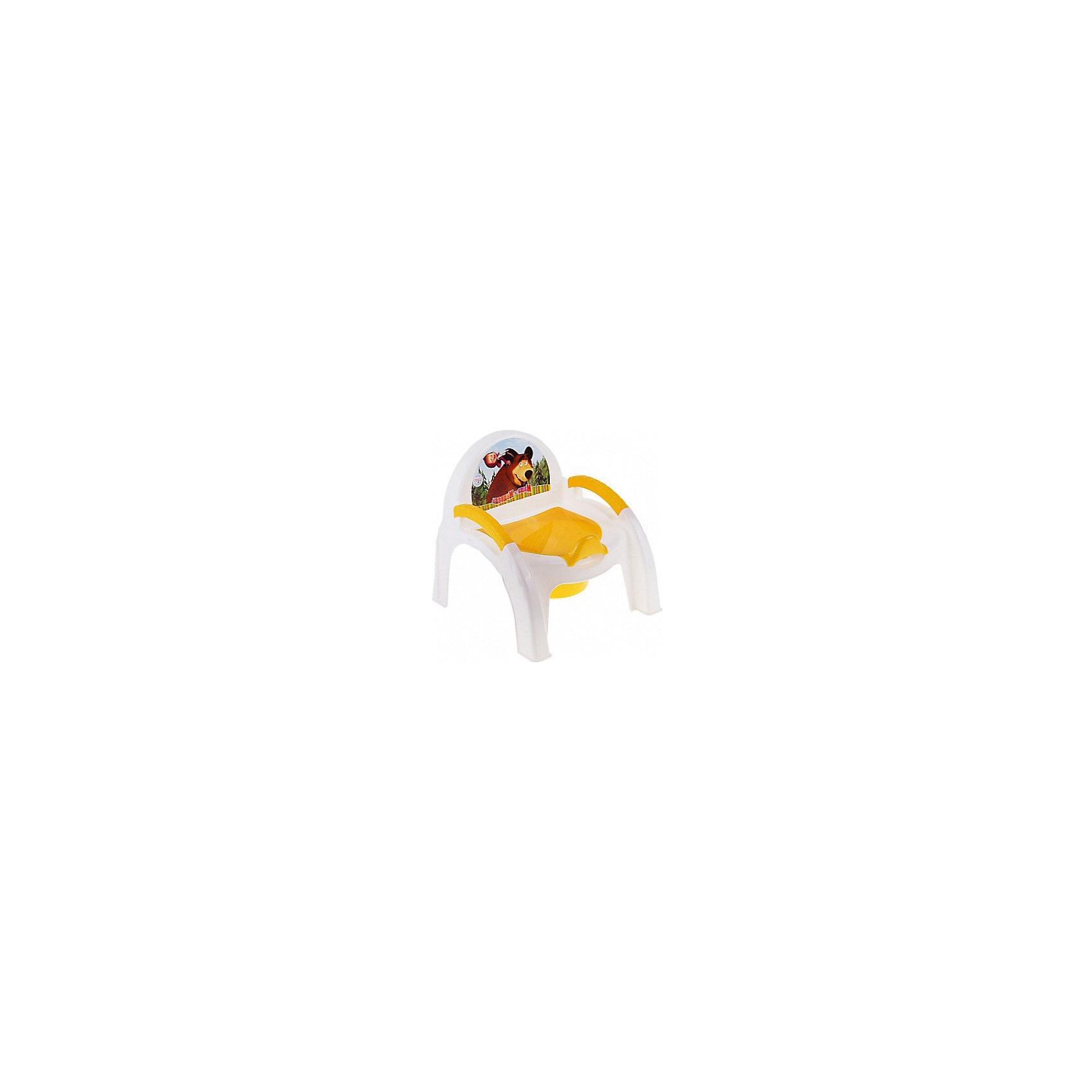 Пластишка Горшок-стульчик Маша и Медведь, Пластишка, бытпласт пластишка 4313262 желтый
