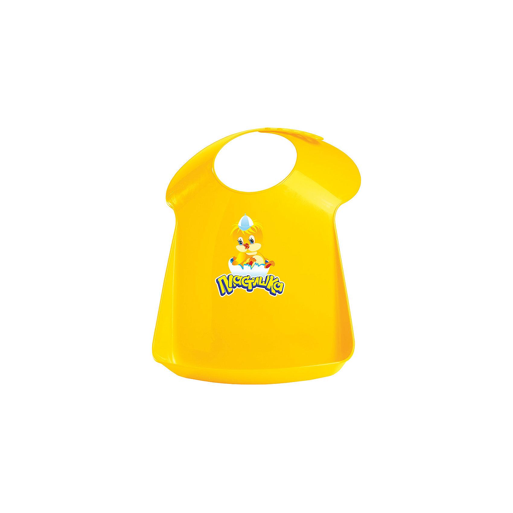 Нагрудник Пластишка, желтый