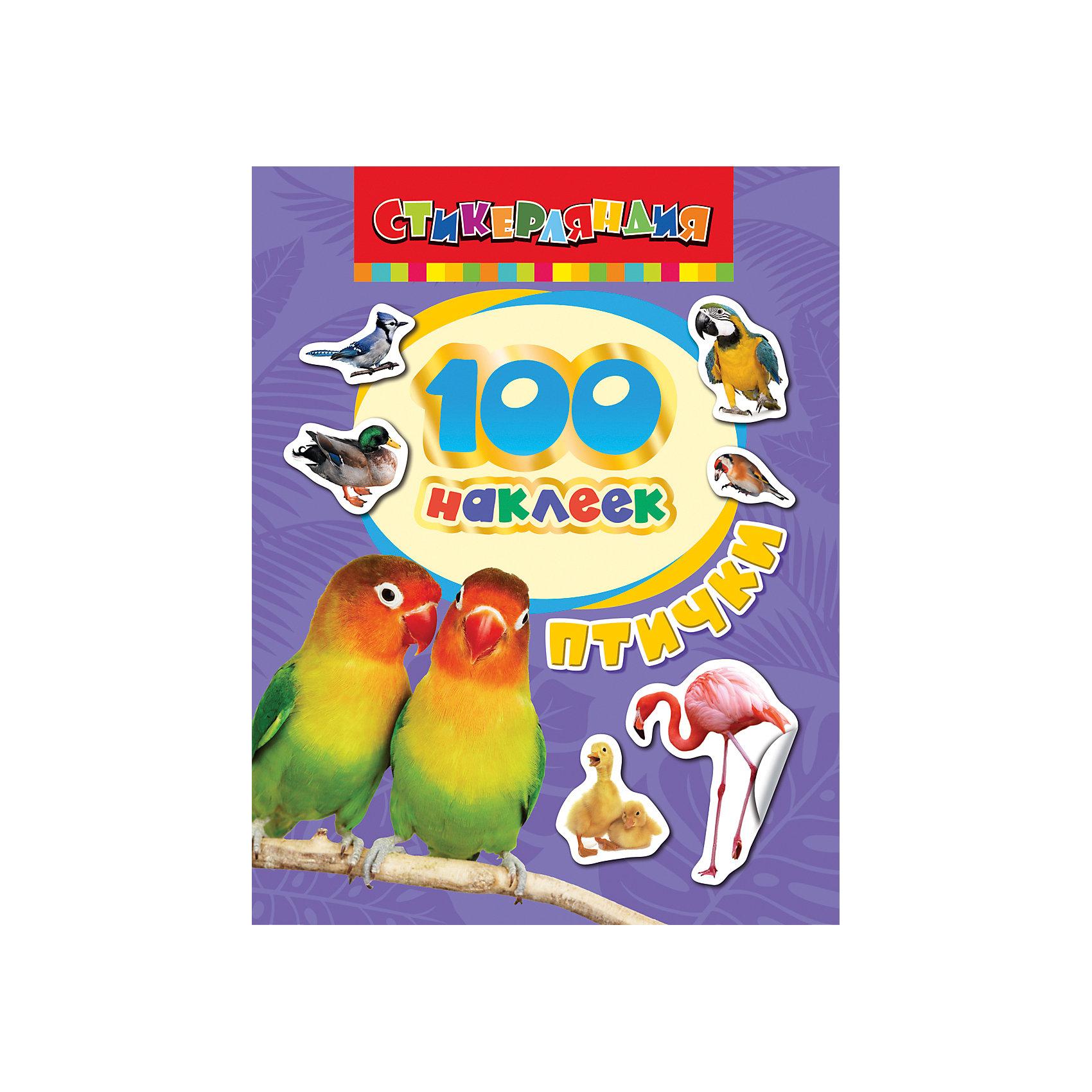 100 наклеек. ПтичкиАльбом 100 наклеек. Птички станет приятным сюрпризом для Вашего ребенка и познакомит его с удивительным и многообразным миром птиц. В альбоме содержится 100 тематических наклеек с красочными изображениями различных видов птиц. Наклейки прекрасно подойдут для украшения рисунков, открыток, альбомов, различных предметов и игрушек.<br><br>Дополнительная информация:<br><br>- Обложка: мягкая.<br>- Иллюстрации: цветные.<br>- Объем: 8 стр.<br>- Размер: 20 х 15 х 0,2 см.<br>- Вес: 36 гр.<br><br>100 наклеек. Птички, Росмэн, можно купить в нашем интернет-магазине.<br><br>Ширина мм: 200<br>Глубина мм: 150<br>Высота мм: 2<br>Вес г: 36<br>Возраст от месяцев: 0<br>Возраст до месяцев: 72<br>Пол: Унисекс<br>Возраст: Детский<br>SKU: 4408719