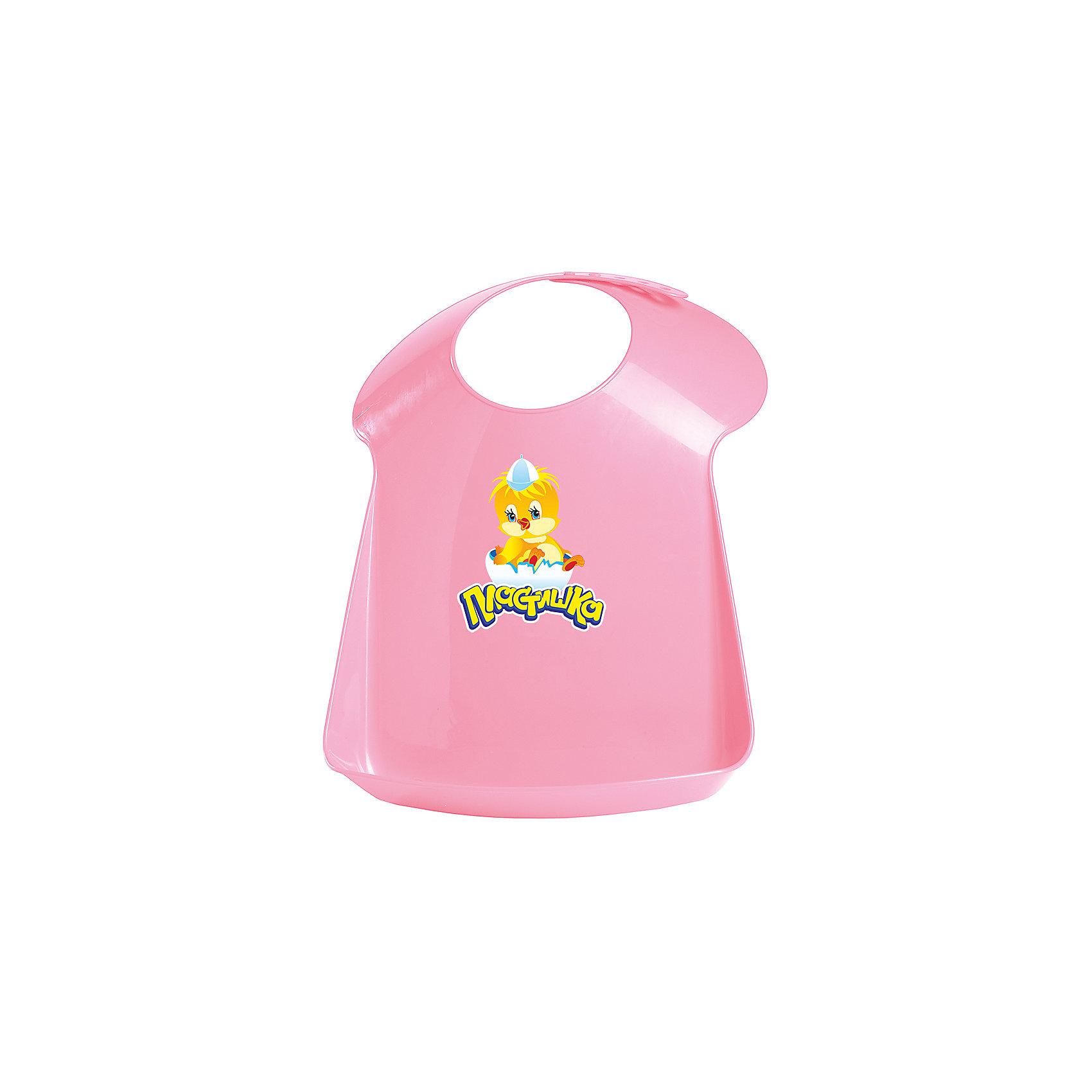 Нагрудник Пластишка, розовыйНагрудник Пластишка, розовый – нагрудник защитит одежду вашего малыша во время еды.<br>Нагрудник с аппликацией Пластишка выполнен из мягкого пищевого полиэтилена с удобным кармашком, предохраняющим одежду ребенка от загрязнения во время кормления. У нагрудника удобная регулируемая застежка. Мягкие и округлые края горловины не поцарапает шею малыша. Нагрудник легко мыть.<br><br>Дополнительная информация:<br><br>- Материал: полиэтилен<br>- Цвет: розовый<br>- Размер: 340х240х65 мм.<br><br>Нагрудник Пластишка, розовый можно купить в нашем интернет-магазине.<br><br>Ширина мм: 330<br>Глубина мм: 240<br>Высота мм: 55<br>Вес г: 9999<br>Цвет: розовый<br>Возраст от месяцев: 0<br>Возраст до месяцев: 24<br>Пол: Унисекс<br>Возраст: Детский<br>SKU: 4409395