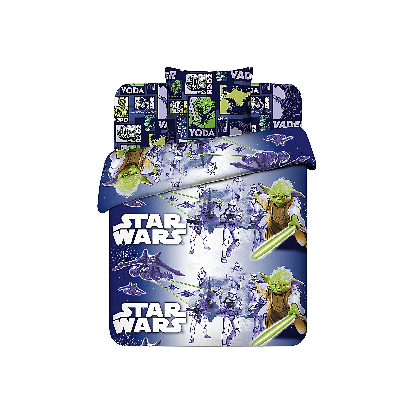 Комплект Магистр Йода 1,5-спальный (наволочка 70*70 см), Звездные ВойныЗвездные войны<br>Этот комплект постельного белья приведет в восторг всех поклонников Star Wars. Яркий комплект с изображением легендарного Йоды вызовет у ребенка бурю положительных эмоций. В производстве изделия используются качественные  красители, что позволяет  сохранять яркость цвета на протяжении всего времени эксплуатации. Ткани не вызывают аллергических реакций, обладают высокой воздухопроницаемостью, гипоаллергенны.<br><br>Дополнительная информация:<br><br>- Комплектация: наволочка (1 шт.), простыня на резинке (1 шт.), пододеяльник.(1 шт).<br>- Материал: 100% хлопок.<br>- Размер: наволочка -  70х70 см, простыня - 150х215 см, пододеяльник - 148х215 см.<br>- Цвет: синий.<br>- Декоративные элементы: принт.<br><br>Комплект Магистр Йода 1,5-спальный (наволочка 70*70 см), Звездные Войны, можно купить в нашем магазине.<br><br>Ширина мм: 300<br>Глубина мм: 50<br>Высота мм: 300<br>Вес г: 1600<br>Возраст от месяцев: 36<br>Возраст до месяцев: 192<br>Пол: Унисекс<br>Возраст: Детский<br>SKU: 4411788
