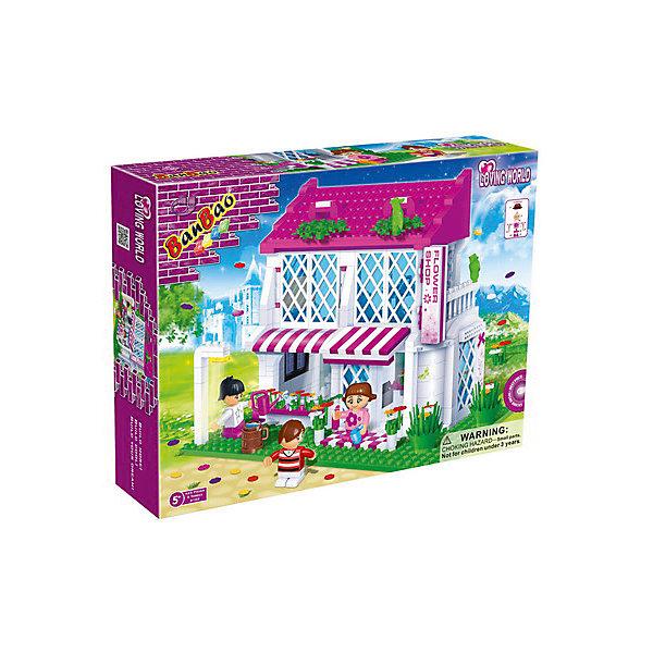 Конструктор Цветочный магазин, BanBaoПластмассовые конструкторы<br>Характеристики:<br><br>• тип игрушки: конструктор;<br>• возраст: от 5 лет;<br>• размер: 28х5,6х19 см;<br>• количество деталей: 252;<br>• материал: пластик;<br>• упаковка: картонная коробка;<br>• комплектация: 252 детали, 2 фигурки человечков и инструкция;<br>• бренд: BanBao;<br>• страна производства: Китай.<br><br>Конструктор «Цветочный магазин» BanBao - это конструктор из серии Trendy City, воплотивший собой представления о европейском качестве. Выполненный из прочного гипоаллергенного пластика, он безопасен для Вашего ребенка. <br><br>Конструктор совместим с другими конструкторами от BanBao и LEGO. Благодаря этому в цветочный магазин можно не только играть, как в самостоятельную игрушку, но и сделать его частью целого города! Купите этот конструктор, и пусть в детской заработает первый цветочный магазин.<br><br>Конструктор «Цветочный магазин» BanBao можно купить в нашем интернет-магазине.<br><br>Ширина мм: 400<br>Глубина мм: 300<br>Высота мм: 70<br>Вес г: 1000<br>Возраст от месяцев: 60<br>Возраст до месяцев: 144<br>Пол: Женский<br>Возраст: Детский<br>SKU: 4411812