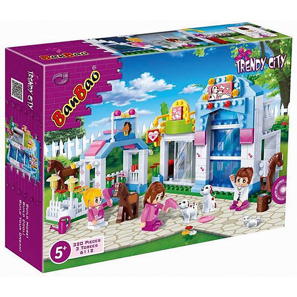 Конструктор Магазин домашних животных, BanBaoПластмассовые конструкторы<br>Характеристики:<br><br>• тип игрушки: конструктор;<br>• возраст: от 3 лет;<br>• размер: 30х40х7 см;<br>• количество деталей: 311;<br>• материал: пластик;<br>• комплектация: 311 деталей, мини-фигурки;<br>• упаковка: картонная коробка;<br>• бренд: BanBao;<br>• страна производства: Китай.<br><br>Конструктор «Магазин домашних животных» BanBao обязательно понравится вашей девочке. Из ярких пластиковых деталей набора она сможет самостоятельно собрать зоомагазин, с которым потом можно будет придумать большое количество увлекательных сюжетов. Игрушка изготовлена из высококачественного пластика, безопасного для здоровья.<br><br>Игры с конструкторами позволяют ребенку развивать мелкую моторику, усидчивость, внимательность и фантазию. Все элементы конструкторов BanBao выполнены из качественного пластика, который прошел проверку на безопасность для детей.<br><br>Конструктор «Магазин домашних животных» BanBao можно купить в нашем интернет-магазине.<br>Ширина мм: 330; Глубина мм: 240; Высота мм: 70; Вес г: 750; Возраст от месяцев: 60; Возраст до месяцев: 144; Пол: Женский; Возраст: Детский; SKU: 4411819;