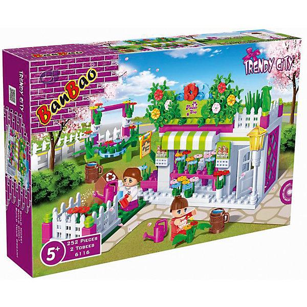 Конструктор Цветочный магазин, BanBaoПластмассовые конструкторы<br>Конструирование - увлекательный и полезный процесс, развивающий мелкую моторику, мышление и фантазию. Из деталей этого конструктора получится уютный цветочный магазин. Множество прекрасно проработанных деталей и две фигурки открывают простор для всевозможных игр, развивающих воображение ребенка.  Все детали конструктора выполнены из высококачественного экологичного пластика, имеют идеально гладкую поверхность и прочно крепятся друг к другу. Прекрасный вариант для подарка на любой праздник. <br><br>Дополнительная информация:<br><br>- Конструктор развивает усидчивость, внимание, фантазию и мелкую моторику.<br>- Материал: пластик.<br>- Комплектация: 2 фигурки, детали конструктора.<br>- Количество деталей: 252<br>- Размер упаковки: 28х5,6х19 см.<br><br>Конструктор Цветочный магазин, BanBao (БанБао), можно купить в нашем магазине.<br><br>Ширина мм: 282<br>Глубина мм: 190<br>Высота мм: 56<br>Вес г: 570<br>Возраст от месяцев: 60<br>Возраст до месяцев: 144<br>Пол: Женский<br>Возраст: Детский<br>SKU: 4411821