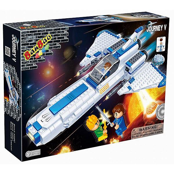 Конструктор Космический летательный аппарат, BanBaoПластмассовые конструкторы<br>Полететь в космос - места любого мальчишки! Позвольте вашему ребенку почувствовать себя настоящим космонавтом и сразиться с межгалактическим врагом! Конструирование - увлекательный и полезный процесс, развивающий мелкую моторику, мышление и фантазию. Космический корабль прекрасно детализирован и снабжен множеством реалистичных деталей, что открывает простор для всевозможных игр, развивающих воображение ребенка. Все детали конструктора выполнены из высококачественного экологичного пластика, имеют идеально гладкую поверхность и прочно крепятся друг к другу. Прекрасный вариант для подарка на любой праздник. <br><br>Дополнительная информация:<br><br>- Конструктор развивает усидчивость, внимание, фантазию и мелкую моторику.<br>- Материал: пластик.<br>- Комплектация: 3 фигурки, детали конструктора.<br>- Крылья корабля и крышка кабины поднимаются. <br>- Количество деталей: 382<br>- Размер упаковки: 40х30х7 см.<br>- Размер корабля: 32 х 24,5 см.<br><br>Конструктор Космический летательный аппарат, BanBao (БанБао), можно купить в нашем магазине.<br><br>Ширина мм: 400<br>Глубина мм: 300<br>Высота мм: 70<br>Вес г: 983<br>Возраст от месяцев: 60<br>Возраст до месяцев: 144<br>Пол: Мужской<br>Возраст: Детский<br>SKU: 4411832