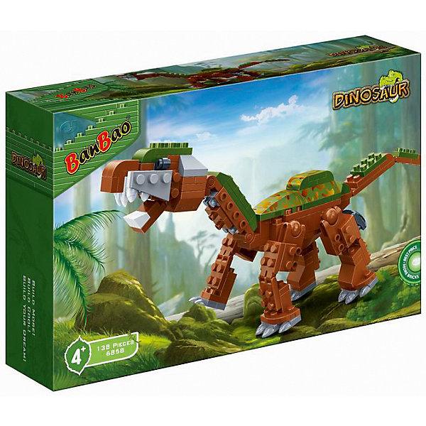 Конструктор Динозавр, BanBaoПластмассовые конструкторы<br>Собери своего грозного бронтозавра и погрузись в мир огромных доисторических рептилий! Игрушка обладает высокой детализацией и множеством правдоподобных элементов, что делает игрушку очень интересной для ребенка. Конструирование - увлекательный и полезный процесс, развивающий мелкую моторику, мышление и фантазию. Все детали набора выполнены из высококачественного экологичного пластика, имеют идеально гладкую поверхность и прочно крепятся друг к другу. Прекрасный вариант для подарка на любой праздник.  <br><br>Дополнительная информация:<br><br>- Конструктор развивает усидчивость, внимание, фантазию и мелкую моторику.<br>- Материал: пластик.<br>- Комплектация: детали конструктора.<br>- Голова, лапы, хвост подвижные.<br>- Количество деталей: 138<br>- Размер упаковки: 23 х 5 х 15  см.<br><br>Конструктор Динозавр, BanBao (БанБао), можно купить в нашем магазине.<br><br>Ширина мм: 23<br>Глубина мм: 150<br>Высота мм: 50<br>Вес г: 320<br>Возраст от месяцев: 60<br>Возраст до месяцев: 144<br>Пол: Унисекс<br>Возраст: Детский<br>SKU: 4411837