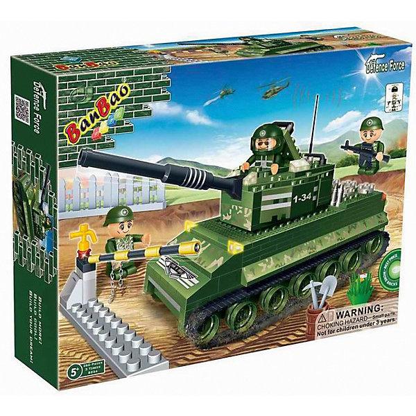 Конструктор Танк, BanBaoПластмассовые конструкторы<br>Мальчишки обожают конструкторы. Это не только интересное и увлекательное хобби, конструирование - это  полезный процесс, прекрасно развивающий мелкую моторику, мышление и фантазию. С помощью этого набора ребенок сможет собрать уникальный мощный американский танк «Тигр», которому не страшен ни один бой. Тигр непревзойден в надежности, прост в конструкции и управлении. Все детали конструктора выполнены из высококачественного экологичного пластика, имеют идеально гладкую поверхность и прочно крепятся друг к другу. Прекрасный вариант для подарка на любой праздник. <br><br>Дополнительная информация:<br><br>- Конструктор развивает усидчивость, внимание, фантазию и мелкую моторику.<br>- Материал: пластик.<br>- Комплектация: 3 фигурки, детали конструктора.<br>- Количество деталей: 260<br>- Размер упаковки: 30x39,8x5,2 см<br>- Вес: 610 гр.<br><br>Конструктор Танк, BanBao (БанБао), можно купить в нашем магазине.<br><br>Ширина мм: 375<br>Глубина мм: 285<br>Высота мм: 65<br>Вес г: 1063<br>Возраст от месяцев: 60<br>Возраст до месяцев: 144<br>Пол: Мужской<br>Возраст: Детский<br>SKU: 4411843