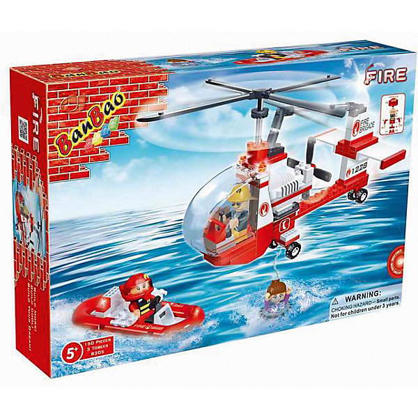 Конструктор Пожарный вертолет, BanBaoПластмассовые конструкторы<br>Этот конструктор обязательно понравится мальчикам. С помощью него можно собрать настоящий пожарный вертолет и спасательный катер. Вертолет имеет отличную детализацию и реалистичный внешний вид, множество прекрасно проработанных деталей, которые открывают простор для всевозможных игр, развивающих воображение ребенка. Конструирование - увлекательный и полезный процесс, развивающий мелкую моторику, мышление и фантазию. Все детали конструктора выполнены из высококачественного экологичного пластика, имеют идеально гладкую поверхность и прочно крепятся друг к другу. Прекрасный вариант для подарка на любой праздник.<br><br>Дополнительная информация:<br><br>- Конструктор развивает усидчивость, внимание, фантазию и мелкую моторику.<br>- Материал: пластик.<br>- Комплектация: 3 фигурки, детали конструктора.<br>- Лопасти и винты вертолета подвижные. <br>- Кабина открывается. <br>- Количество деталей: 150<br>- Размер упаковки: 25 x 5 x 16 см.<br>- Вес: 260 гр.<br><br>Конструктор Пожарный вертолет, BanBao (БанБао), можно купить в нашем магазине.<br><br>Ширина мм: 282<br>Глубина мм: 190<br>Высота мм: 56<br>Вес г: 367<br>Возраст от месяцев: 60<br>Возраст до месяцев: 144<br>Пол: Мужской<br>Возраст: Детский<br>SKU: 4411849