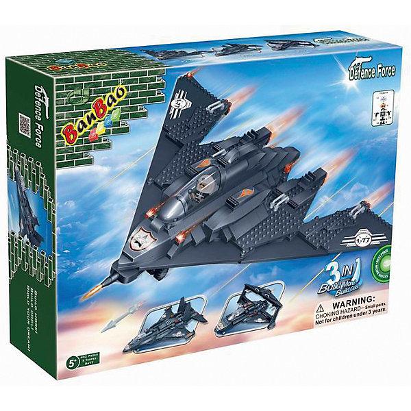 Конструктор 3 самолета в 1 BanBaoПластмассовые конструкторы<br>С помощью этого набора ребенок сможет создать целых три боевых самолета. Конструктор является трансформером, так как из его деталей ребёнок сможет собрать три совершенно разных истребителя. Игрушка обладает высокой детализацией и множеством правдоподобных элементов, что делает игрушку очень интересной для ребенка. Конструирование - увлекательный и полезный процесс, развивающий мелкую моторику, мышление и фантазию. Все детали набора выполнены из высококачественного экологичного пластика, имеют идеально гладкую поверхность и прочно крепятся друг к другу. Прекрасный вариант для подарка на любой праздник.  <br><br>Дополнительная информация:<br><br>- Конструктор развивает усидчивость, внимание, фантазию и мелкую моторику.<br>- Материал: пластик.<br>- Комплектация: детали конструктора, с помощью которых можно собрать один из трех истребителей.<br>- Кабина открывается.<br>- Количество деталей: 402<br>- Размер упаковки: 30 х 40 х 9 см. <br><br>Конструктор 3 самолета в 1 BanBao (БанБао), можно купить в нашем магазине.<br><br>Ширина мм: 405<br>Глубина мм: 300<br>Высота мм: 85<br>Вес г: 1500<br>Возраст от месяцев: 60<br>Возраст до месяцев: 144<br>Пол: Мужской<br>Возраст: Детский<br>SKU: 4411861