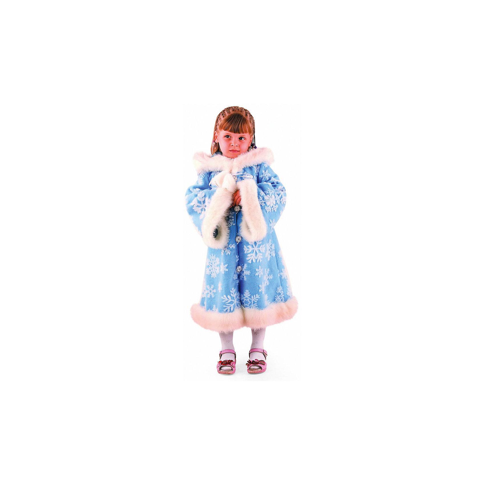 Карнавальный костюм Зимушка, БатикКарнавальные костюмы и аксессуары<br>В этом красивом карнавальном костюме ваша девочка почувствует себя настоящей королевой всех зимних праздников и обязательно привлечет к себе внимание. Очаровательная шубка с капюшоном изготовлена из мягкой плюшевой ткани, декорирована мягким мехом и рисунком в виде больших снежинок. Уютный капюшон не оставит равнодушной ни одну юную модницу. Костюм выполнен из высококачественных экологичных материалов, в производстве ткани использованы только безопасные, гипоаллергенные красители.<br><br>Дополнительная информация:<br><br>- Материал: текстиль, искусственный мех.<br>- Цвет: голубой, белый.<br>- Состоит из очаровательной шубки с капюшоном.<br>- Декоративные элементы: меховая оторочка, принт. <br>- Параметры для размера 26:<br>- обхват груди: 52 см.<br>- рост: 104 см.<br><br>Карнавальный костюм Зимушка, Батик, можно купить в нашем магазине.<br><br>Ширина мм: 500<br>Глубина мм: 50<br>Высота мм: 700<br>Вес г: 600<br>Цвет: разноцветный<br>Возраст от месяцев: 60<br>Возраст до месяцев: 72<br>Пол: Женский<br>Возраст: Детский<br>Размер: 30<br>SKU: 4412713