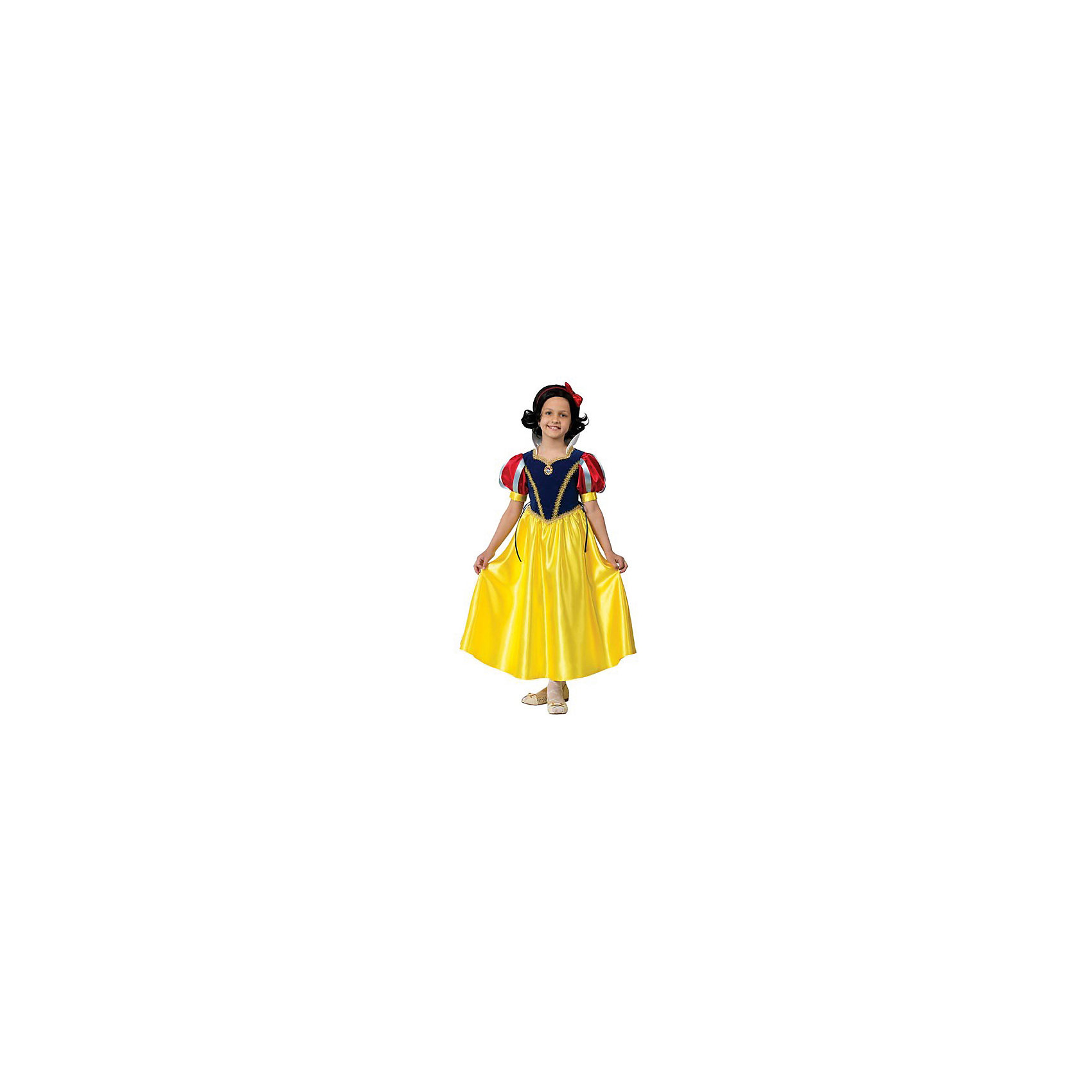 Карнавальный костюм Принцесса Белоснежка, БатикКарнавальные костюмы и аксессуары<br>Каждая девочка мечтает стать сказочной принцессой. Ваша малышка придет в восторг от этого прекрасного наряда. Все детали костюма отлично проработаны что позволяет создать органичный и узнаваемый образ принцессы Белоснежки. Позвольте девочке почувствовать себя королевой вечера и получить настоящее удовольствие от самого волшебного праздника в году! Костюм выполнен из высококачественных экологичных материалов, в производстве ткани использованы только безопасные, гипоаллергенные красители.<br><br>Дополнительная информация:<br><br>- Материал: текстиль, пластик.<br>- Цвет: красный, желтый, синий. <br>- Комплектация: платье, парик, брошь, ободок с бантом.<br>- Декоративные элементы: тесьма.<br>- Параметры для размера 30:<br>- обхват груди: 60 см.<br>- рост: 116 см.<br><br>Карнавальный костюм Принцесса Белоснежка, Батик, можно купить в нашем магазине.<br><br>Ширина мм: 500<br>Глубина мм: 50<br>Высота мм: 700<br>Вес г: 600<br>Цвет: разноцветный<br>Возраст от месяцев: 60<br>Возраст до месяцев: 72<br>Пол: Женский<br>Возраст: Детский<br>Размер: 28<br>SKU: 4412743