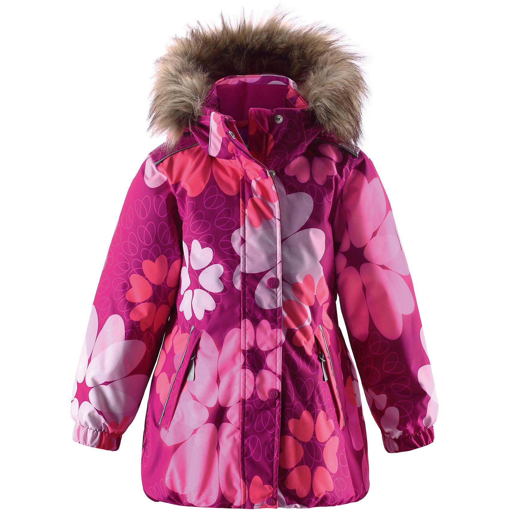 Куртка Reimatec для девочки ReimaЭй, снежные принцессы - Вашему вниманию представлена отличная, полностью водонепроницаемая зимняя куртка, которая отлично подойдет для строительства снежных замков! Эта зимняя куртка из водо- и ветронепроницаемого материала подойдет для любого вида зимних развлечений, так как изготовлена из дышащего материала, что не позволит ребенку вспотеть, каким бы подвижным он не был! Все швы куртки проклеены для водонепроницаемости, что позволяет ребенку оставаться сухим во время активного отдыха на открытом воздухе. Данная модель с цветочным принтом и забавной эластичной сборкой на подоле, регулируемой для более плотного прилегания, предназначена для девочек. Сзади на талии имеется стяжка, которая делает прямой покрой куртки более приталенным. Гладкая подкладка из полиэстера позволяет легко надевать куртку, также к ней можно пристегивать промежуточный слой. Обратите внимание, что куртка оснащена специальными кнопками Play Layers®, что позволяет пристегивать к ней промежуточный слой Reima® для дополнительного тепла и комфорта. Элегантный вид придает отстегиваемая отделка на капюшоне из искусственного меха. Проста в уходе, можно сушить в центрифуге.<br><br>Дополнительная информация:<br><br>Температурный режим: до -20<br>Средняя степень утепления: 160 г<br>Водонепроницаемая зимняя куртка для детей постарше, модель для девочек<br>Все швы проклеены, водонепроницаемы<br>Безопасный съемный капюшон, украшенный отстегивающимся искусственным мехом<br>Два кармана на молнии<br>Подол регулируется<br>Безопасные светоотражающие детали<br><br>Куртку Reimatec для девочки Reima (Рейма) можно купить в нашем магазине.<br><br>Ширина мм: 356<br>Глубина мм: 10<br>Высота мм: 245<br>Вес г: 519<br>Цвет: розовый<br>Возраст от месяцев: 24<br>Возраст до месяцев: 36<br>Пол: Женский<br>Возраст: Детский<br>Размер: 98,140,122,134,92,104,110,116,128<br>SKU: 4412988