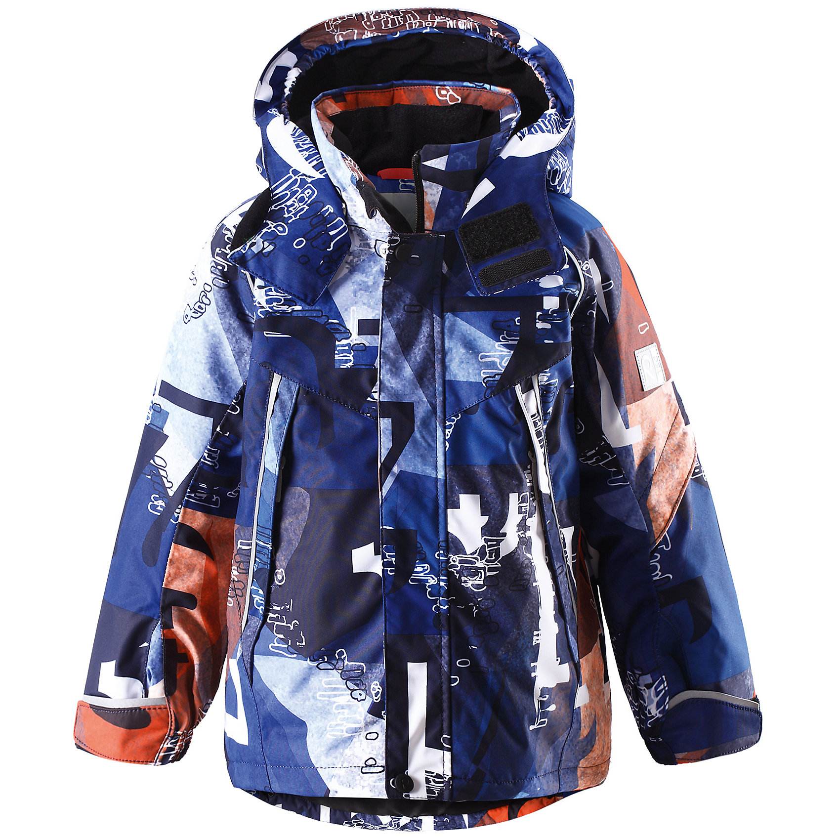 Куртка Reimatec для мальчика ReimaВодоотталкивающая функциональная куртка - обязательная деталь гардероба каждого маленького энтузиаста, независимо от того, куда он идет, в школу и кататься на горку! Зимняя куртка Reimatec® изготовлена ??из полностью водонепроницаемого материала. Ветронепроницаемый, но дышащий материал обеспечивает комфорт и не позволяет ребенку вспотеть во время продолжительного отдыха на открытом воздухе. Водо- и грязеотталкивающая поверхность и проклеенные швы предотвращают попадание воды и грязи. Гладкая подкладка из полиэстера позволяет легко надевать куртку. Обратите внимание, что куртка оснащена специальными кнопками Play Layers®, что позволяет пристегивать к ней промежуточный слой Reima® для дополнительного тепла и комфорта. На капюшоне имеется клапан, защищающий шею от ветра, и козырек, обеспечивающий видимость ребенка в темноте. Куртка регулируется на талии для хорошей посадки, манжеты регулируются с помощью липучки. Кроме карманов на молнии, на куртке имеется внутренний нагрудный карман и карман на рукаве для хранения карточки лыжного клуба. Модный красочный принт привлечет внимание днем, а светоотражающие детали не позволят куртке остаться незамеченной в темноте! Проста в уходе, можно сушить в центрифуге.<br><br>Дополнительная информация:<br><br>Средняя степень утепления (до - 20)<br>Утеплитель: 160 г<br>Водонепроницаемая зимняя куртка для детей постарше, модель для мальчиков<br>Все швы проклеены, водонепроницаемы<br>Безопасный съемный капюшон со светоотражающим козырьком<br>На рукаве карман для карты лыжного клуба<br>Два кармана на молниях<br>Подол регулируется<br>Безопасные светоотражающие детали<br><br>Куртку Reimatec (Рейматек) для мальчика Reima (Рейма) можно купить в нашем магазине.<br><br>Ширина мм: 356<br>Глубина мм: 10<br>Высота мм: 245<br>Вес г: 519<br>Цвет: синий<br>Возраст от месяцев: 18<br>Возраст до месяцев: 24<br>Пол: Мужской<br>Возраст: Детский<br>Размер: 92,104,116,122,110,128,140,134,98<br>SKU: 4412999