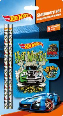 Академия групп Канцелярский набор Hot Wheels (5 предметов)