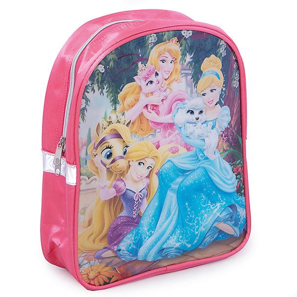 Дошкольный рюкзак ПринцессаСпящая красавица - Аврора<br>Дошкольный рюкзак Принцесса - удобный стильный рюкзак, который замечательно подойдет для прогулок, поездок и путешествий. Рюкзак выполнен из прочного долговечного материала. Привлекательный дизайн с ярко-розовой расцветкой и нарядным изображением принцесс из диснеевских мультфильмов обязательно понравится Вашей девочке. Рюкзак застегивается на застежку-молнию, внутри одно вместительное отделение с небольшим кармашком на молнии. Оснащен удобными, регулируемыми по длине, широкими лямками. Также есть текстильная ручка, за которую можно нести рюкзак. Светоотражающие элементы обеспечивают безопасность в темное время суток. <br><br>Дополнительная информация:<br><br>- Материал: полиэстер, ПВХ (поливинилхлорид), текстиль, металл. <br>- Размер рюкзака: 23 х 9 х 28 см.  <br>- Размер упаковки: 32 х 25 х 10 см.<br>- Вес: 0,223 кг.<br><br>Дошкольный рюкзак Принцесса, Princess, можно купить в нашем интернет-магазине.<br><br>Ширина мм: 100<br>Глубина мм: 250<br>Высота мм: 320<br>Вес г: 223<br>Возраст от месяцев: 36<br>Возраст до месяцев: 84<br>Пол: Женский<br>Возраст: Детский<br>SKU: 4413566