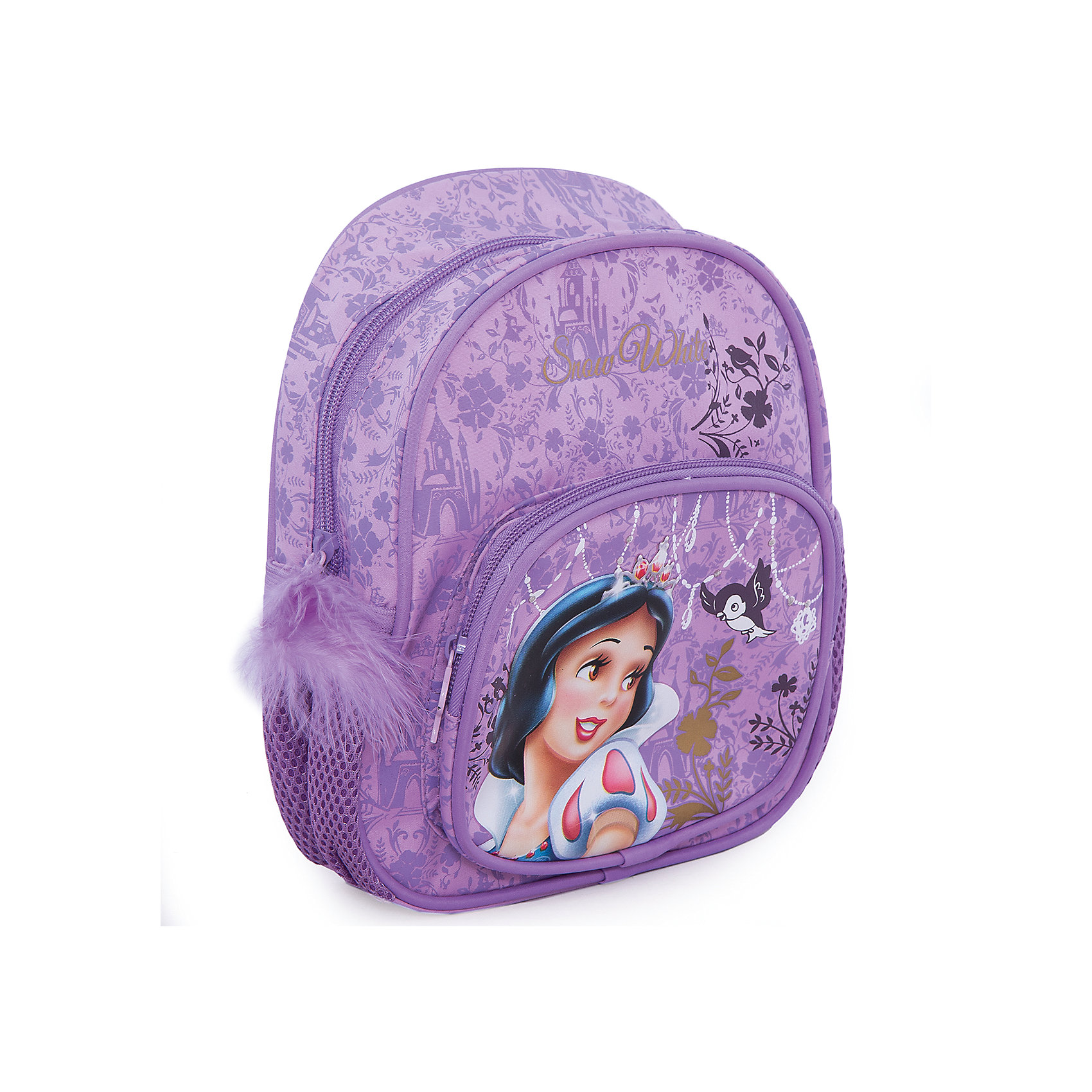 Мини-рюкзак ПринцессаМини-рюкзак Принцесса - удобный стильный рюкзак, который замечательно подойдет для прогулок, поездок и путешествий  Рюкзак выполнен из прочного долговечного материала. Привлекательный дизайн с нежно-фиолетовой расцветкой и изображением очаровательной диснеевской принцессы обязательно понравится Вашей девочке. Внутри одно просторное отделение на молнии, также имеется большой накладной карман на молнии на лицевой стороне и два сетчатых кармашка по бокам. Рюкзак оснащен удобными регулируемыми лямками и текстильной ручкой для переноски в руках.<br><br>Дополнительная информация:<br><br>- Материал: полиэстер.  <br>- Размер: 24 х 20 х 8 см.<br>- Вес: 0,208 кг.<br><br>Мини-рюкзак Принцесса можно купить в нашем интернет-магазине.<br><br>Ширина мм: 200<br>Глубина мм: 240<br>Высота мм: 80<br>Вес г: 208<br>Возраст от месяцев: 36<br>Возраст до месяцев: 84<br>Пол: Женский<br>Возраст: Детский<br>SKU: 4413567