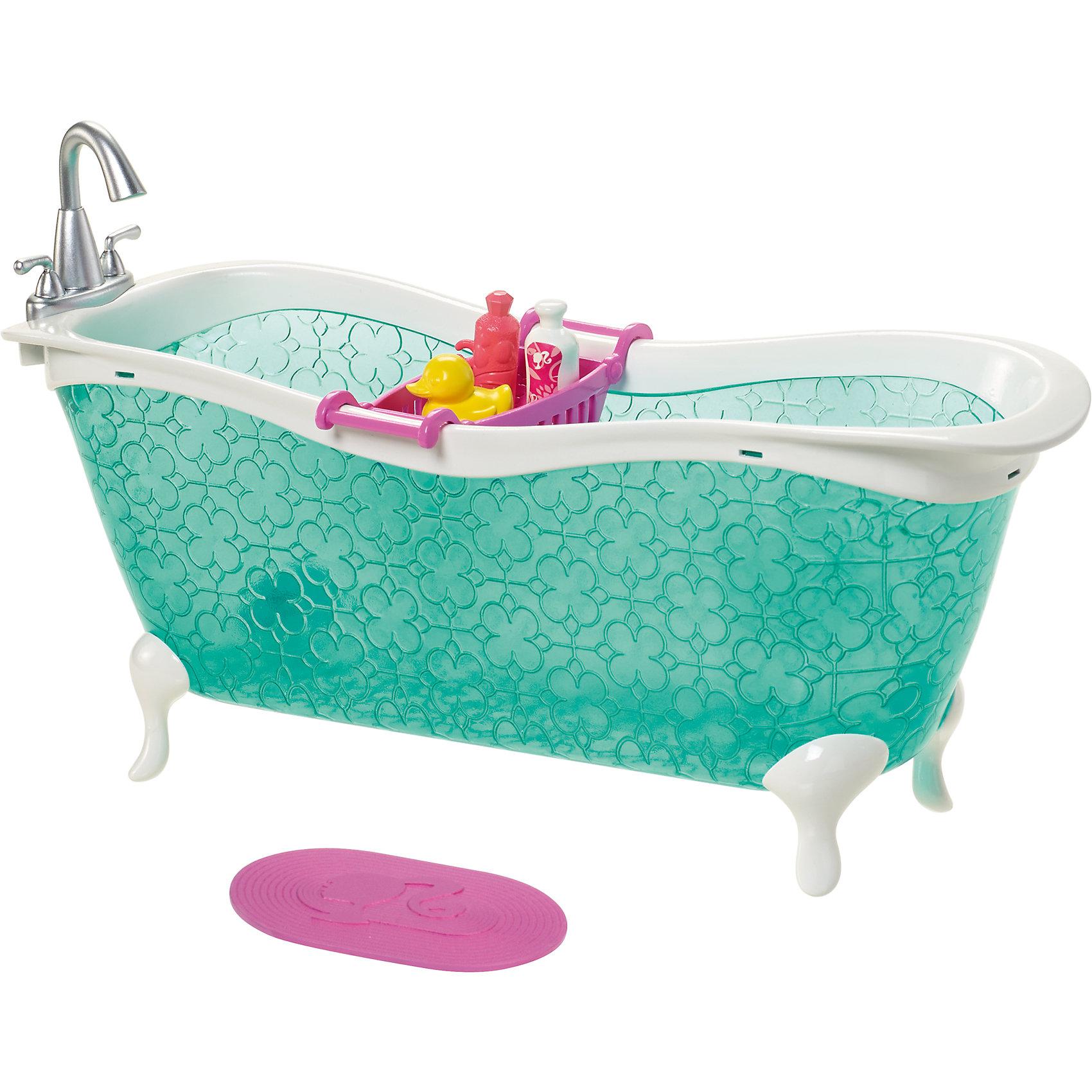 Набор для декора дома, BarbieНаборы мебели для дома куклы Barbie (Барби) приведут в восторг современную девочку. Богатый выбор мебели и аксессуаров, которые продаются по отдельности, позволит ребенку почувствовать себя дизайнером и превратить дом Барби в уютное и красивое место. Мебель выполнена в соответствии с высокими стандартами качества Mattel. Эта мебель поможет девочке весело проводить время, а также развивать художественный вкус и воображение, а также учиться правильно использовать пространство.<br>Данный набор состоит из ванны, коврика и набора мелочей для мытья. Игрушка изготовлена из высококачественных, легких и безопасных для детей материалов. Яркая стильная мебель для любимой куклы станет отличным подарком девочке!<br><br>Дополнительная информация:<br><br>цвет: разноцветный;<br>материал: пластик;<br>комплектация: ванна, набор для ванны, коврик.<br><br>Набор для декора дома, Barbie (Барби), от бренда Mattel можно купить в нашем магазине.<br><br>Ширина мм: 272<br>Глубина мм: 182<br>Высота мм: 83<br>Вес г: 259<br>Возраст от месяцев: 36<br>Возраст до месяцев: 72<br>Пол: Женский<br>Возраст: Детский<br>SKU: 4413684