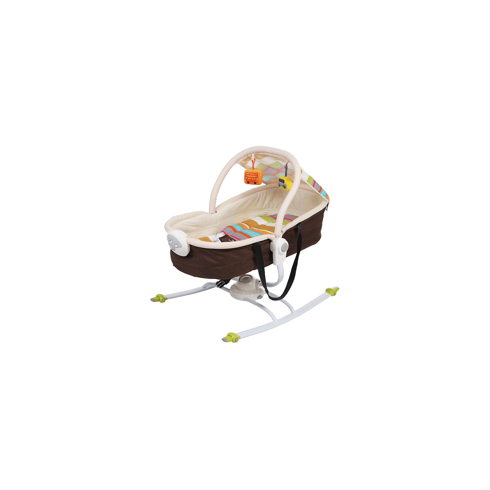 Шезлонг Dreamer, Jetem, коричневый/красныйУдобный и практичный шезлонг - идеальный вариант для малышей и их родителей. Модель может трансформироваться в люльку, имеет глубокий капор, который обеспечит крохе спокойный и комфортный отдых. Шезлонг имеет блок вибраций и музыкальный блок с регулировкой громкости, включающий в себя 6 колыбельных мелодий. Ремни безопасности надежно и мягко удержат в шезлонге уже подросшего и более активного малыша, а дуга с игрушками развлечет кроху. Модель выполнена из высококачественных экологичных материалов абсолютно безопасных для детей.<br><br>Дополнительная информация:<br><br>- Материал: пластик, текстиль.<br>- Размеры шезлонга: 73х51х71 см.<br>- Размеры люльки: 74х51х66 см.<br>- Трансформируется в люльку.<br>- Блок вибрации с регулировкой.<br>- 6 мелодий с регулировкой громкости.<br>- Дуга с игрушками.<br>- Капор.<br>- Ремень безопасности.<br>- База шезлонга может вращаться на 360 градусов.<br>- Стирка: щадящий режим, 30?.<br>- Вес: 4,6 кг.<br><br>Шезлонг Dreamer, Jetem (Жетем), красный, можно купить в нашем магазине.<br><br>Ширина мм: 700<br>Глубина мм: 530<br>Высота мм: 120<br>Вес г: 6200<br>Возраст от месяцев: 0<br>Возраст до месяцев: 9<br>Пол: Унисекс<br>Возраст: Детский<br>SKU: 4414635