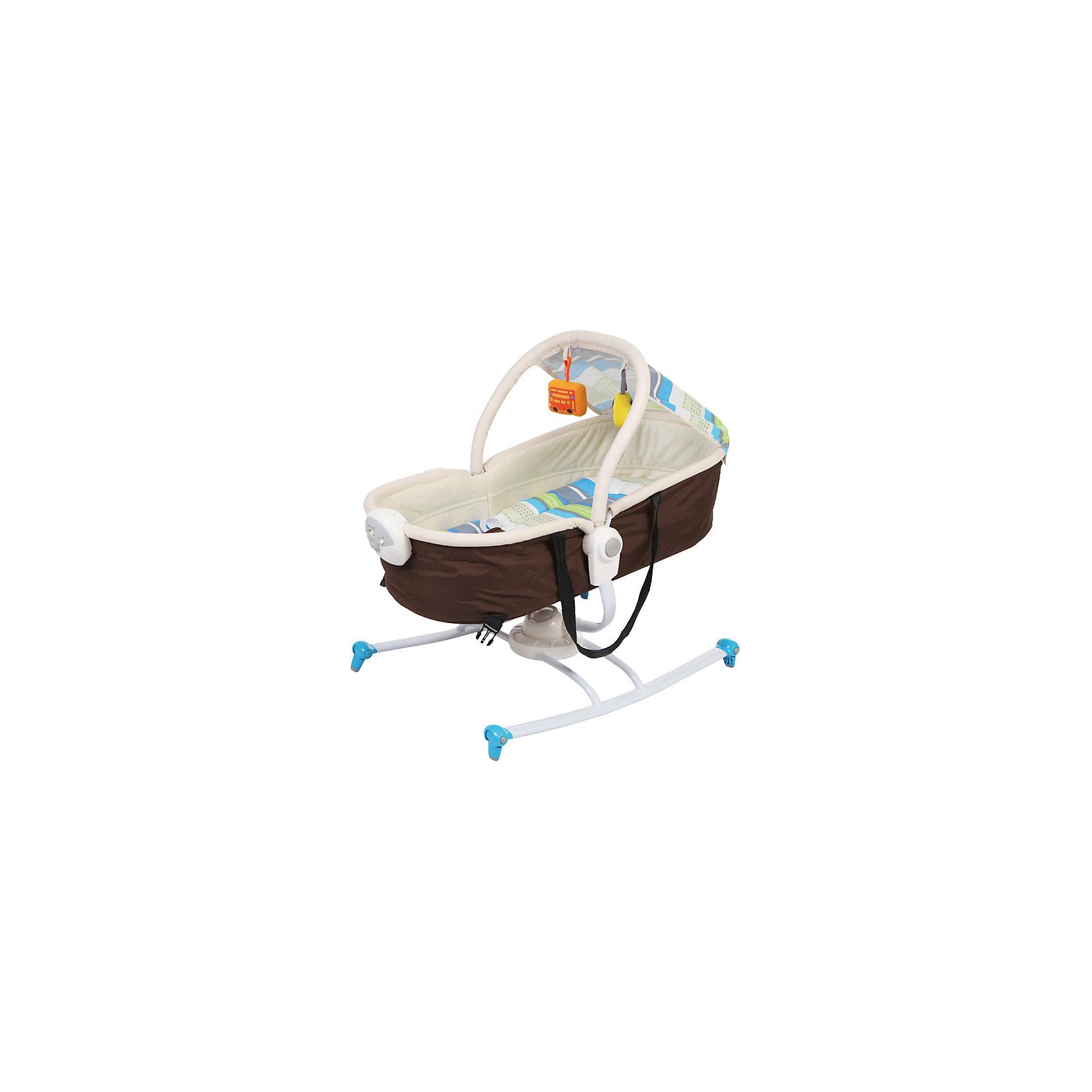 Шезлонг Dreamer, Jetem, коричневый/синийУдобный и практичный шезлонг - идеальный вариант для малышей и их родителей. Модель может трансформироваться в люльку, имеет глубокий капор, который обеспечит крохе спокойный и комфортный отдых. Шезлонг имеет блок вибраций и музыкальный блок с регулировкой громкости, включающий в себя 6 колыбельных мелодий. Ремни безопасности надежно и мягко удержат в шезлонге уже подросшего и более активного малыша, а дуга с игрушками развлечет кроху. Модель выполнена из высококачественных экологичных материалов абсолютно безопасных для детей.<br><br>Дополнительная информация:<br><br>- Материал: пластик, текстиль.<br>- Размеры шезлонга: 73х51х71 см.<br>- Размеры люльки: 74х51х66 см.<br>- Трансформируется в люльку.<br>- Блок вибрации с регулировкой.<br>- 6 мелодий с регулировкой громкости.<br>- Дуга с игрушками.<br>- Капор.<br>- Ремень безопасности.<br>- База шезлонга может вращаться на 360 градусов.<br>- Стирка: щадящий режим, 30?.<br>- Вес: 4,6 кг.<br><br>Шезлонг Dreamer, Jetem (Жетем), синий, можно купить в нашем магазине.<br><br>Ширина мм: 700<br>Глубина мм: 530<br>Высота мм: 120<br>Вес г: 6200<br>Возраст от месяцев: 0<br>Возраст до месяцев: 9<br>Пол: Унисекс<br>Возраст: Детский<br>SKU: 4414636