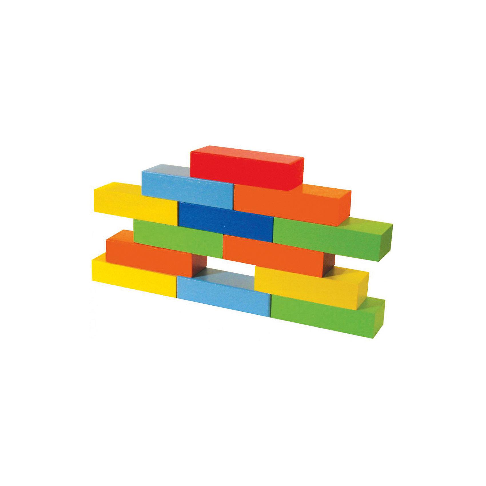 Деревянный набор Кирпичики  24 шт., AlatoysДети обожают играть с кубиками. С этим замечательным набором ваш малыш не будет скучать! Яркие кирпичики имеют удобную форму и приятны на ощупь. С помощью этого деревянного конструктора ребенок сможет собрать великое множество конструкций: это и ракета, и мостик через воображаемую реку, и робот, и башня, машинка, забор, домик, замок, поезд, самолет, колодец и многое другое. Кирпичики изготовлены из натурального дерева, покрашены безопасными гипоаллергенными красителями. Конструирование из ярких кубиков помогает ребенку развить моторику рук, логическое мышление, концентрацию, цветовосприятие. <br><br>Дополнительная информация:<br><br>- Материал: дерево.<br>- Размер: 26,5х18,5х4 см.<br>- 24 кирпичика в наборе. <br><br>Деревянный набор Кирпичики  24 шт., Alatoys (Алатойс), можно купить в нашем магазине.<br><br>Ширина мм: 130<br>Глубина мм: 175<br>Высота мм: 45<br>Вес г: 578<br>Возраст от месяцев: 12<br>Возраст до месяцев: 48<br>Пол: Унисекс<br>Возраст: Детский<br>SKU: 4415359