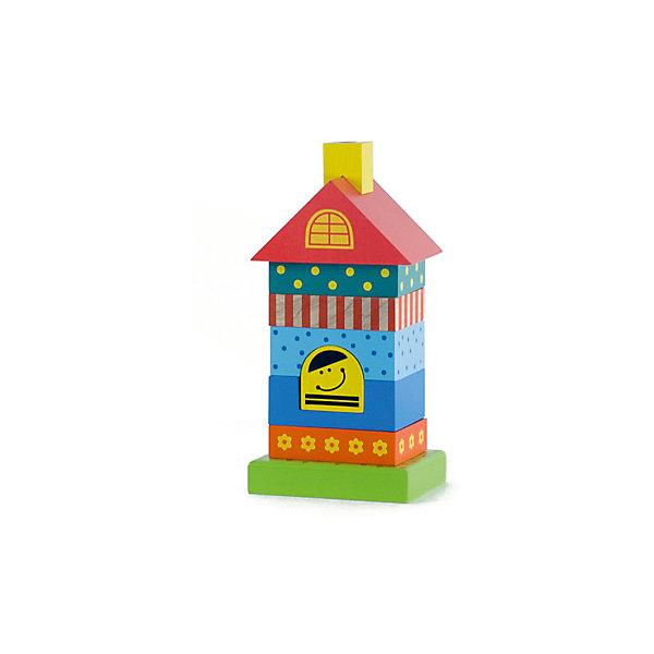Пирамидка деревянная Домик 8 деталей, AlatoysДеревянные игрушки<br>Характеристики товара:<br><br>• возраст: от 1 года;<br>• размер упаковки: 10х8х21 см.;<br>• состав: дерево;<br>• упаковка: картонная коробка;<br>• вес в упаковке: 660 гр.;<br>• бренд, страна: Alatoys, Россия;<br>• страна-производитель: Россия.<br><br>Пирамидка деревянная «Домик» от Alatoys собирается из 8 элементов. Она имеет основу-подставку со штырьком, куда нужно нанизывать детали в нужном порядке. Игрушка создана из натуральной, экологически чистой древесины — березы. В ее окрашивании используются только безопасные и яркие краски.<br><br>Сборка пирамидки — отличная развивающая активность для детей раннего возраста. Благодаря высокой безопасности, эту пирамидку можно собирать уже с 12 месяцев. Ребенок научится соотносить формы деталей, разовьет логическое мышление, а древесная текстура будет положительно влиять на сенсорное развитие.<br><br>Пирамидку деревянную «Домик», 8 элементов от Alatoys можно купить в нашем интернет-магазине.<br>Ширина мм: 205; Глубина мм: 100; Высота мм: 80; Вес г: 619; Возраст от месяцев: 12; Возраст до месяцев: 48; Пол: Унисекс; Возраст: Детский; SKU: 4415361;