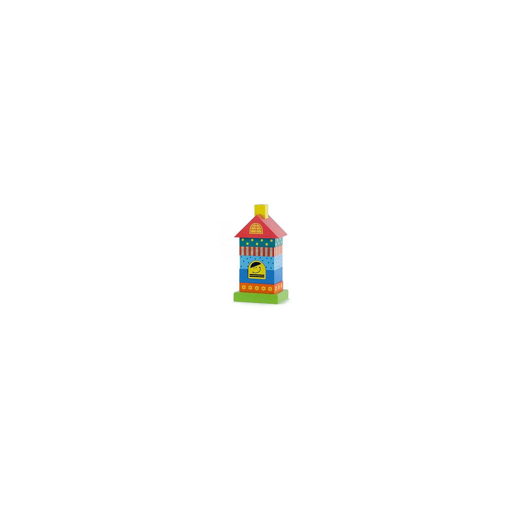 Пирамидка деревянная Домик 8 деталей, AlatoysПирамидки<br>Яркая пирамидка обязательно привлечет внимание малышей. Все ее детали имеют удобную форму и приятны на ощупь. Разбирая и собирая пирамидку, малыш учится узнавать цвета и формы, развивает моторику рук, логическое мышление, концентрацию и внимание. Все элементы игрушки изготовлены из натурального дерева, покрашены безопасными гипоаллергенными красителями. <br><br>Дополнительная информация:<br><br>- Материал: дерево.<br>- Размер: 20 х 10 х 8 см.<br>- 8 деталей.. <br><br>Пирамидку деревянную Домик 8 деталей, Alatoys (Алатойс), можно купить в нашем магазине.<br><br>Ширина мм: 205<br>Глубина мм: 100<br>Высота мм: 80<br>Вес г: 619<br>Возраст от месяцев: 12<br>Возраст до месяцев: 48<br>Пол: Унисекс<br>Возраст: Детский<br>SKU: 4415361