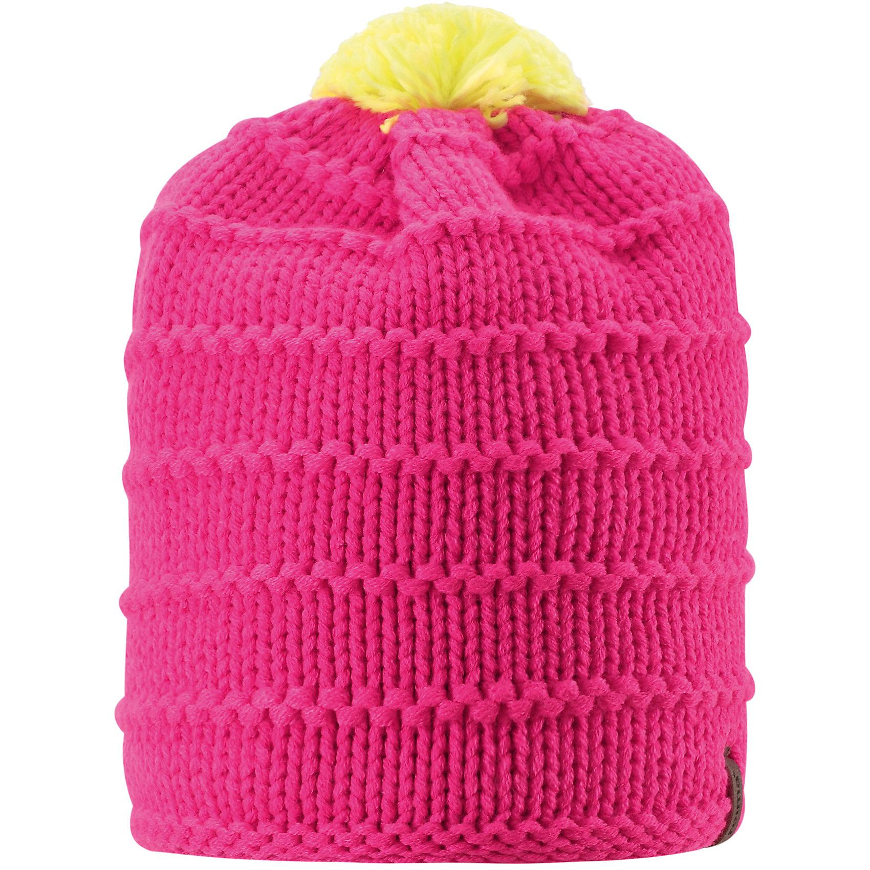 Шапка для девочки ReimaЭта зимняя детская шапка из тёплой, толстой, высококачественной акриловой пряжи станет модным выбором для зимних прогулок. В этой шапке с подкладкой из мягкого, тёплого флиса ребёнок не замёрзнет в холодные зимние месяцы. Простой в уходе акрил отлично контролирует температуру. Ветронепроницаемые вставки в области ушей защищают маленькие ушки от холодного ветра, поэтому маленьким искателям приключений будет тепло и комфортно. Уютная модель весёлой расцветки легко сочетается с разной одеждой, а помпон контрастного цвета делает образ неповторимым.<br><br>Дополнительная информация:<br><br>Зимняя шапка для детей и подростков<br>Тёплая, толстая, высококачественная пряжа<br>Мягкая, тёплая подкладки из флиса<br>Ветронепроницаемые вставки в области ушей<br>Состав: 100% акрил<br><br>Шапку для девочки от популярного финского бренда Reima можно купить в нашем магазине.<br><br>Ширина мм: 89<br>Глубина мм: 117<br>Высота мм: 44<br>Вес г: 155<br>Цвет: розовый<br>Возраст от месяцев: 96<br>Возраст до месяцев: 120<br>Пол: Женский<br>Возраст: Детский<br>Размер: 56,54,58,52<br>SKU: 4417213