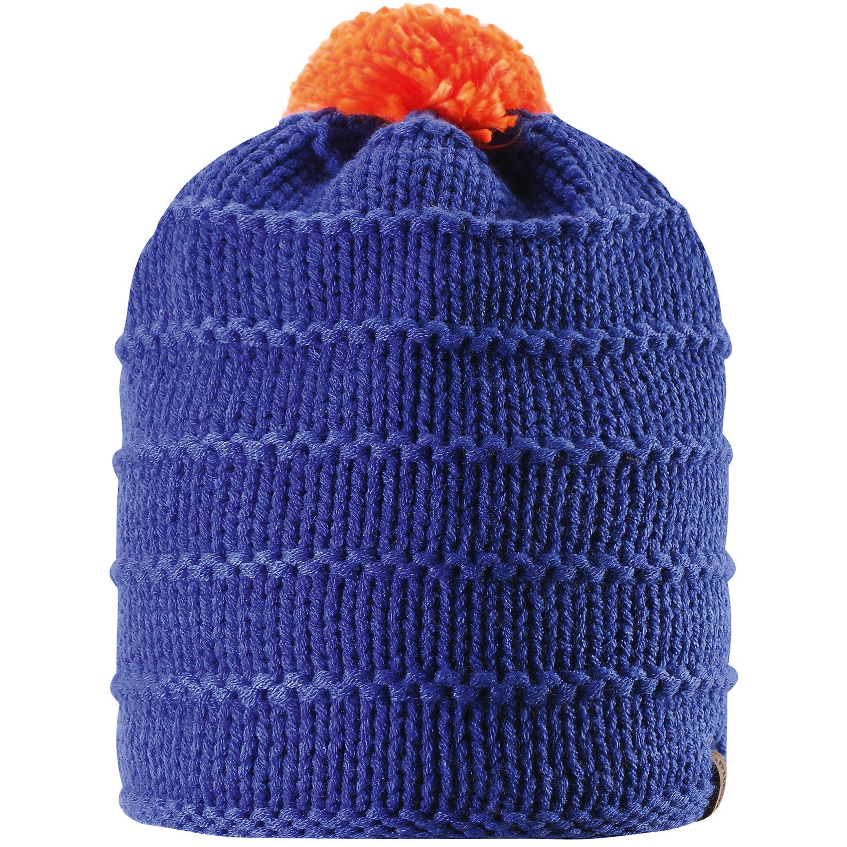 Шапка для мальчика ReimaШапки и шарфы<br>Эта зимняя детская шапка из тёплой, толстой, высококачественной акриловой пряжи станет модным выбором для зимних прогулок. В этой шапке с подкладкой из мягкого, тёплого флиса ребёнок не замёрзнет в холодные зимние месяцы. Простой в уходе акрил отлично контролирует температуру. Ветронепроницаемые вставки в области ушей защищают маленькие ушки от холодного ветра, поэтому маленьким искателям приключений будет тепло и комфортно. Уютная модель весёлой расцветки легко сочетается с разной одеждой, а помпон контрастного цвета делает образ неповторимым.<br><br>Дополнительная информация:<br><br>Зимняя шапка для детей и подростков<br>Тёплая, толстая, высококачественная пряжа<br>Мягкая, тёплая подкладки из флиса<br>Ветронепроницаемые вставки в области ушей<br>Состав: 100% акрил<br><br>Шапку для мальчика от популярного финского бренда Reima можно купить в нашем магазине.<br><br>Ширина мм: 89<br>Глубина мм: 117<br>Высота мм: 44<br>Вес г: 155<br>Цвет: синий<br>Возраст от месяцев: 72<br>Возраст до месяцев: 84<br>Пол: Мужской<br>Возраст: Детский<br>Размер: 54,56,58,52<br>SKU: 4417222