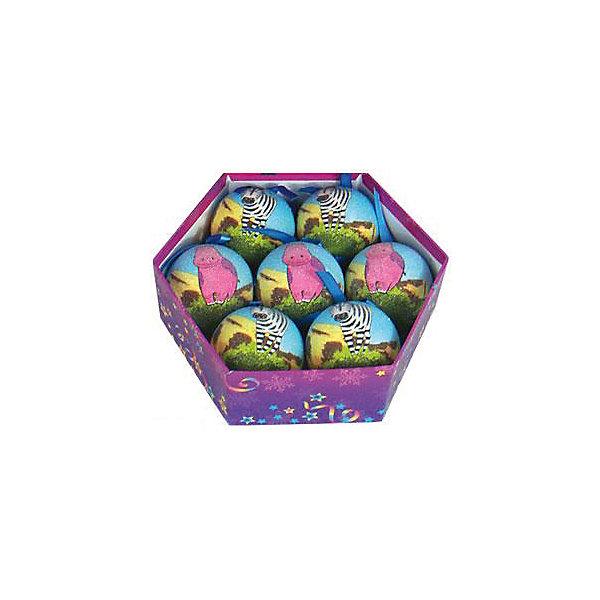 Набор шаров Саванна 7 шт, Marko FerenzoЁлочные игрушки<br>Набор шаров Саванна, Marko Ferenzo, станет замечательным украшением для Вашей новогодней елки и поможет создать праздничную волшебную атмосферу. В комплекте семь красочных шаров, украшенных детскими рисунками забавных африканских животных, они будут чудесно смотреться на елке и радовать детей и взрослых. Шары упакованы в нарядную подарочную коробочку.<br><br>Дополнительная информация:<br><br>- В комплекте: 7 шт.<br>- Диаметр шара: 7,5 см.<br>- Размер упаковки: 22,7 x 22,7 x 8 см.<br>- Вес: 0,3 кг.<br><br>Набор шаров Саванна 7 шт., Marko Ferenzo, можно купить в нашем интернет-магазине.<br>Ширина мм: 100; Глубина мм: 10; Высота мм: 100; Вес г: 300; Возраст от месяцев: 36; Возраст до месяцев: 2147483647; Пол: Унисекс; Возраст: Детский; SKU: 4418862;