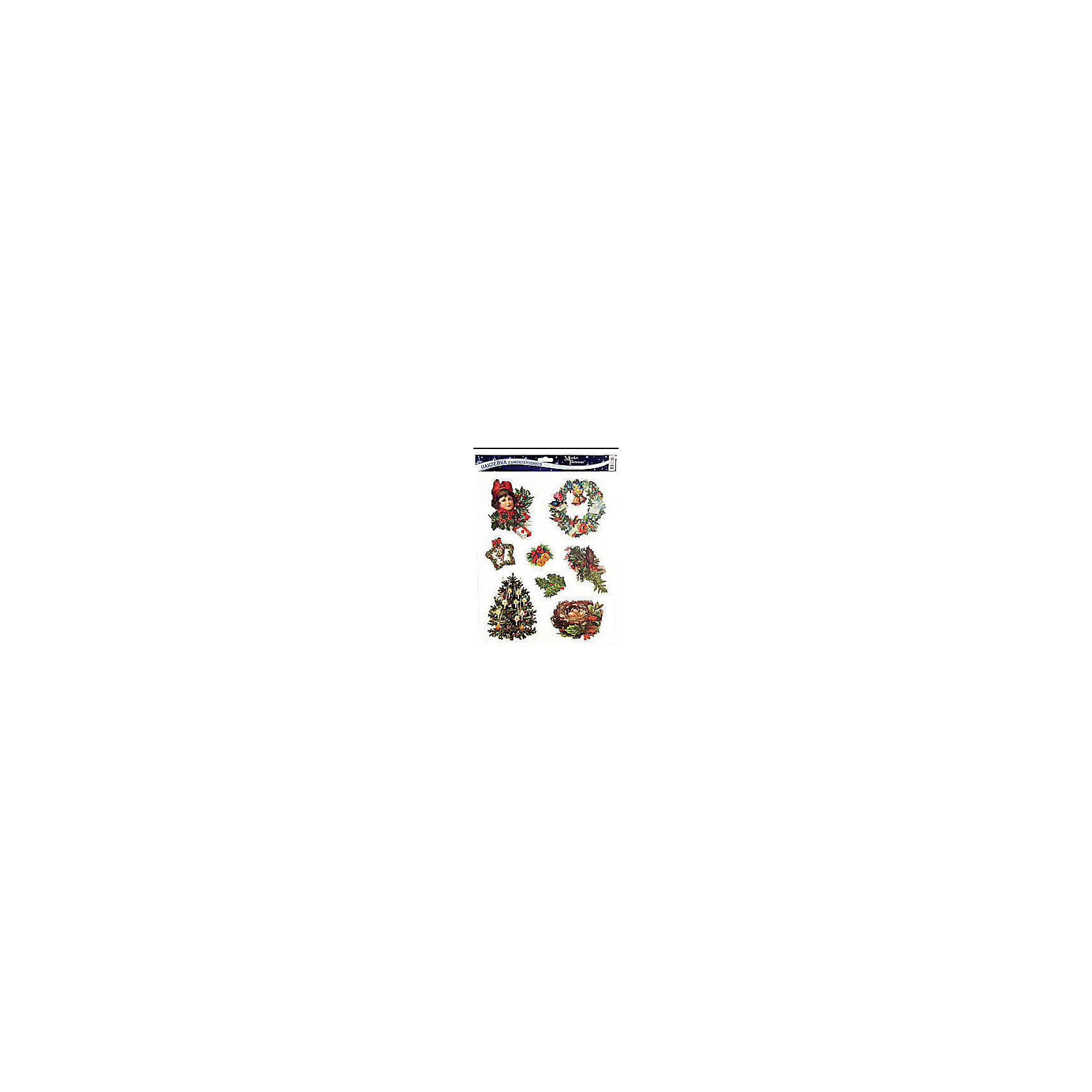 Наклейка на стекло Новогодняя 30*42 см в ассортименте, Marko FerenzoНаклейка на стекло Новогодняя, Marko Ferenzo, замечательно украсит Ваш интерьер и создаст праздничное новогоднее настроение. В комплекте восемь красочных наклеек с изображениями нарядных елочек, рождественских веночков и других новогодних атрибутов. Прочно крепятся к стеклу с помощью прозрачной клейкой пленки, на которую нанесены рисунки. В ассортименте наклейки с разным дизайном.<br><br>Дополнительная информация:<br><br>- В комплекте: 8 шт.<br>- Материал: ПВХ пленка.<br>- Размер листа с наклейками: 30 х 42 см.<br>- Вес: 200 гр. <br><br>Наклейку на стекло Новогодняя, Marko Ferenzo, можно купить в нашем интернет-магазине.<br><br>ВНИМАНИЕ! Данный артикул имеется в наличии в разных вариантах исполнения. Заранее выбрать определенный вариант нельзя. При заказе нескольких комплектов наклеек возможно получение одинаковых.<br><br>Ширина мм: 300<br>Глубина мм: 420<br>Высота мм: 25<br>Вес г: 625<br>Возраст от месяцев: 36<br>Возраст до месяцев: 2147483647<br>Пол: Унисекс<br>Возраст: Детский<br>SKU: 4418877