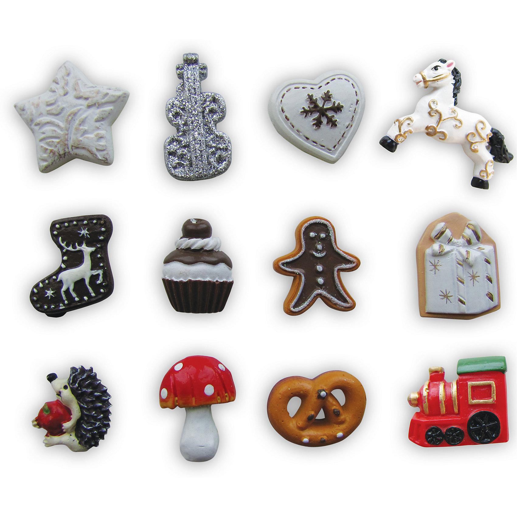 Набор сувениров на липучке Рождественские гадания (12 фигурок)Всё для праздника<br>Набор Рождественские гадания поднимет Вам настроение в новогодние праздники и станет приятным сувениром для родных и друзей. В комплекте 12 симпатичных рождественских фигурок в виде звездочек, сердечка, бублика, грибка и другие. На обратной стороне имеется липучка. В инструкции Вы найдете информацию о значении фигурок в гадании.<br><br>Дополнительная информация:<br>- В комплекте: 12 фигурок.<br>- Материал: полистоун. <br>- Размер упаковки: 9,5 x 6,5 см.<br>- Вес: 0,694 кг. <br><br>Сувенир Рождественские гадания (12 фигурок) можно купить в нашем интернет-магазине.<br><br>Ширина мм: 50<br>Глубина мм: 50<br>Высота мм: 5<br>Вес г: 694<br>Возраст от месяцев: 36<br>Возраст до месяцев: 2147483647<br>Пол: Унисекс<br>Возраст: Детский<br>SKU: 4418886