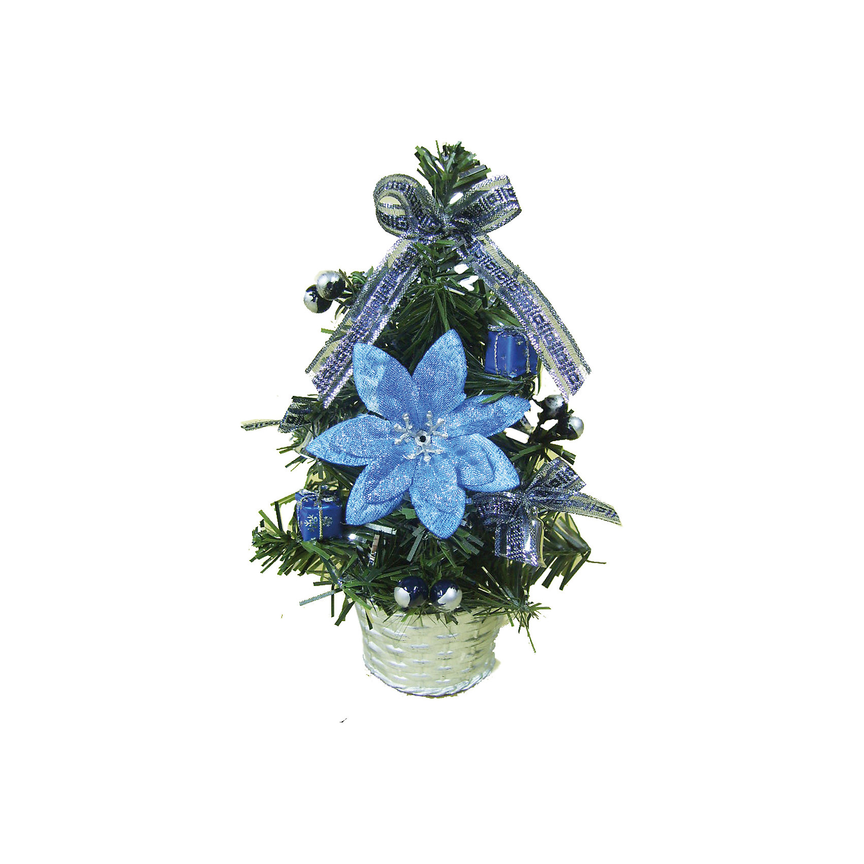 Украшенная ель 20 см, Marko FerenzoВсё для праздника<br>Ель, Marko Ferenzo, станет замечательным украшением Вашего интерьера и приятным сувениром для родных и друзей. Нарядная, миниатюрная елочка порадует и взрослых и детей и создаст волшебную атмосферу новогодних праздников. Елочка имеет подставку в виде горшочка и декорирована большим синим цветком, украшениями в виде подарочных коробочек и серебристыми ленточками  <br><br>Дополнительная информация:<br><br>- Цвет украшений: бирюза, синий, серебро.<br>- Высота ели: 20 см.<br>- Вес: 0,677 кг. <br><br>Украшенная ель 20 см., Marko Ferenzo, можно купить в нашем интернет-магазине.<br><br>Ширина мм: 100<br>Глубина мм: 10<br>Высота мм: 100<br>Вес г: 677<br>Возраст от месяцев: 36<br>Возраст до месяцев: 2147483647<br>Пол: Унисекс<br>Возраст: Детский<br>SKU: 4418891