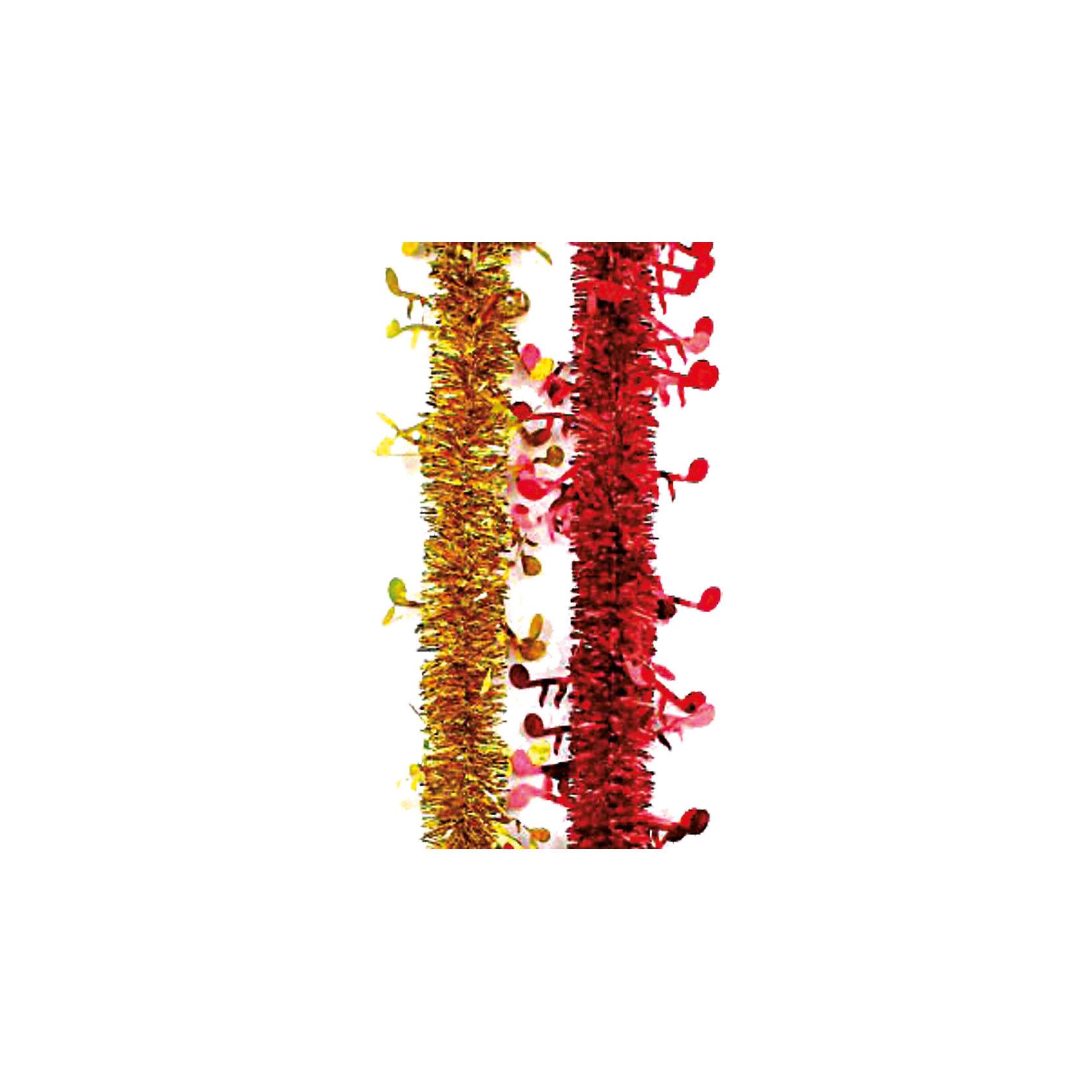 Мишура Мелодия, Marko FerenzoВсё для праздника<br>Мишура Мелодия, Marko Ferenzo, станет замечательным украшением Вашей новогодней елки или интерьера и поможет создать праздничную волшебную атмосферу. Мишура выполнена в нарядном привлекательном дизайне и декорирована фигурками в виде ноток, она будет чудесно смотреться на елке и радовать детей и взрослых. В ассортименте золотой и красный цвета.<br><br>Дополнительная информация:<br><br>- Цвет: золотой или красный (в ассортименте).<br>- Размер мишуры: 5 х 200 см.<br>- Размер упаковки: 13 х 12 х 8 см.<br>- Вес: 52 гр.<br><br>Мишуру Мелодия, Marko Ferenzo, можно купить в нашем интернет-магазине.<br><br>Ширина мм: 100<br>Глубина мм: 10<br>Высота мм: 100<br>Вес г: 52<br>Возраст от месяцев: 36<br>Возраст до месяцев: 2147483647<br>Пол: Унисекс<br>Возраст: Детский<br>SKU: 4418892