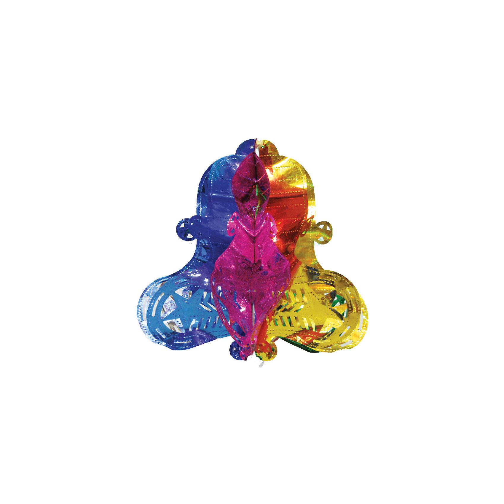 Украшение  Колокол, Marko FerenzoУкрашение Колокол, Marko Ferenzo, замечательно дополнит наряд Вашей новогодней елки и поможет создать праздничную радостную атмосферу. Украшение выполнено в виде разноцветного ажурного колокольчика из фольги, он будет чудесно смотреться на елке и радовать детей и взрослых.<br><br>Дополнительная информация:<br><br>- Материал: фольга.<br>- Размер: 40 см.<br><br>Украшение Колокол, Marko Ferenzo, можно купить в нашем интернет-магазине.<br><br>Ширина мм: 100<br>Глубина мм: 10<br>Высота мм: 100<br>Вес г: 313<br>Возраст от месяцев: 36<br>Возраст до месяцев: 2147483647<br>Пол: Унисекс<br>Возраст: Детский<br>SKU: 4418896