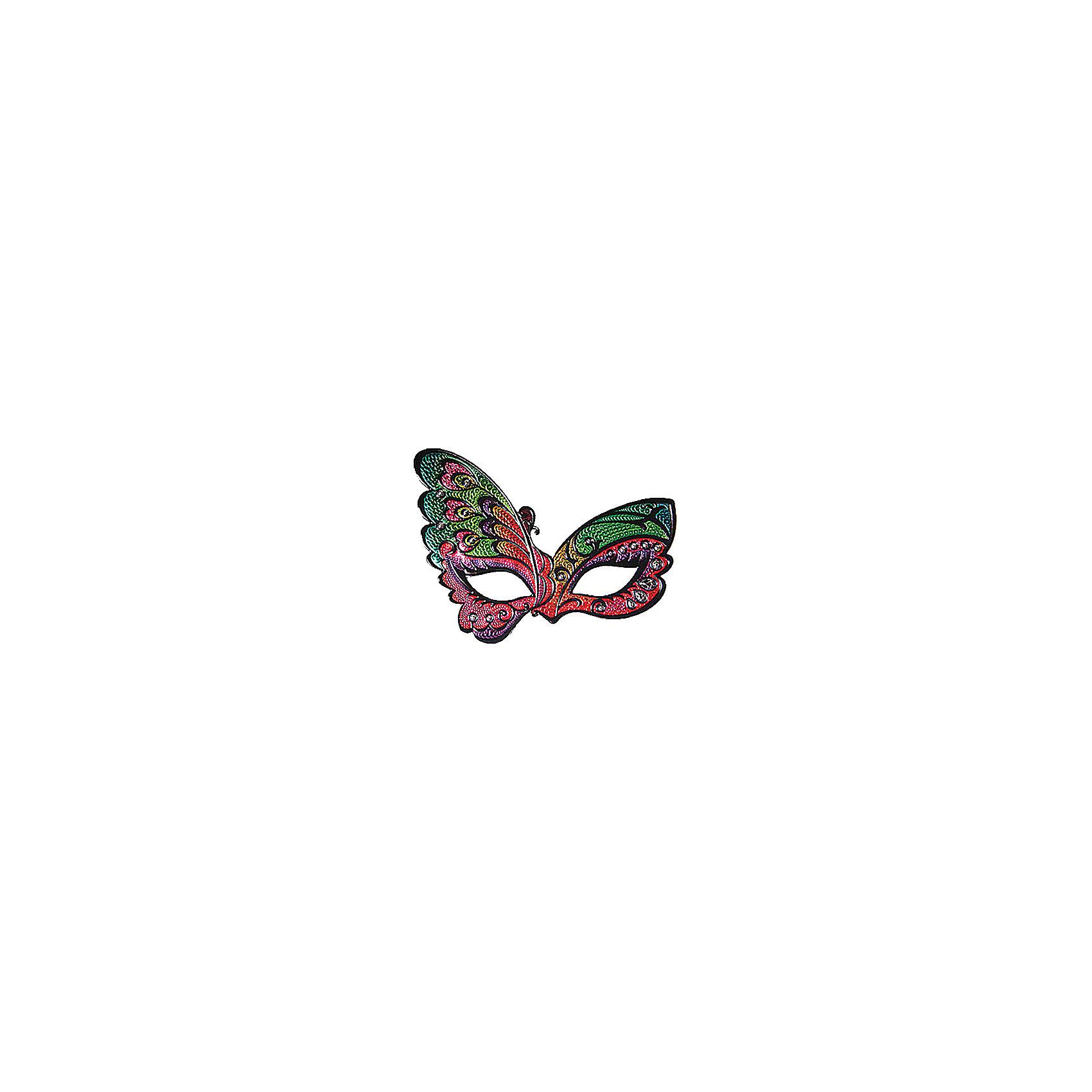 Маска ЗагадкаМаска Загадка, Marko Ferenzo, станет замечательным дополнением к карнавальному наряду. Маска приятной розово-зеленой расцветки выполнена в виде крыльев бабочки и декорирована нарядными узорами и пайетками. Изготовлена из мягкого безопасного пластика, фиксируется с помощью резинки.<br><br> Дополнительная информация:<br><br>- Материал: пластик.<br>- Размер маски: 22 х 17 см.<br><br>Маску Загадка, Marko Ferenzo, можно купить в нашем интернет-магазине.<br><br>Ширина мм: 100<br>Глубина мм: 10<br>Высота мм: 100<br>Вес г: 469<br>Возраст от месяцев: 36<br>Возраст до месяцев: 2147483647<br>Пол: Унисекс<br>Возраст: Детский<br>SKU: 4418904