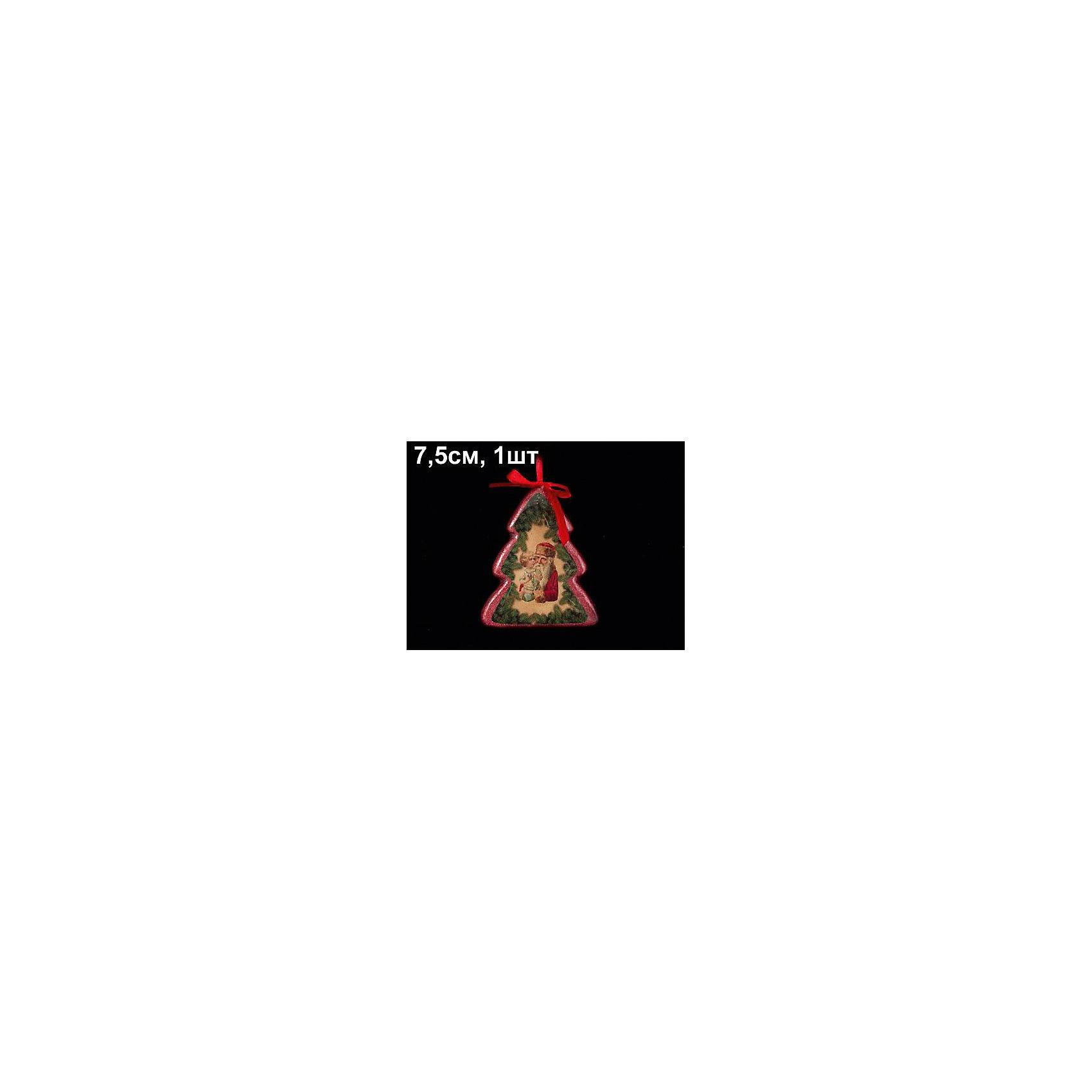 Елочное украшение Елочка, Marko FerenzoУкрашение Елочка, Marko Ferenzo, замечательно дополнит наряд Вашей новогодней елки и поможет создать праздничную волшебную атмосферу. Украшение выполнено в виде нарядной елочки, украшенной изображением Деда Мороза. Оно будет чудесно смотреться на елке и радовать детей и взрослых.<br><br>Дополнительная информация:<br><br>- Цвет: красный/зеленый/коричневый.<br>- Размер украшения: 7,5 см.<br>- Размер упаковки: 9,5 х 8 х 1,5 см. <br>- Вес: 104 гр.<br><br>Елочное украшение Елочка, Marko Ferenzo, можно купить в нашем интернет-магазине.<br><br>Ширина мм: 75<br>Глубина мм: 50<br>Высота мм: 20<br>Вес г: 104<br>Возраст от месяцев: 36<br>Возраст до месяцев: 2147483647<br>Пол: Унисекс<br>Возраст: Детский<br>SKU: 4418907