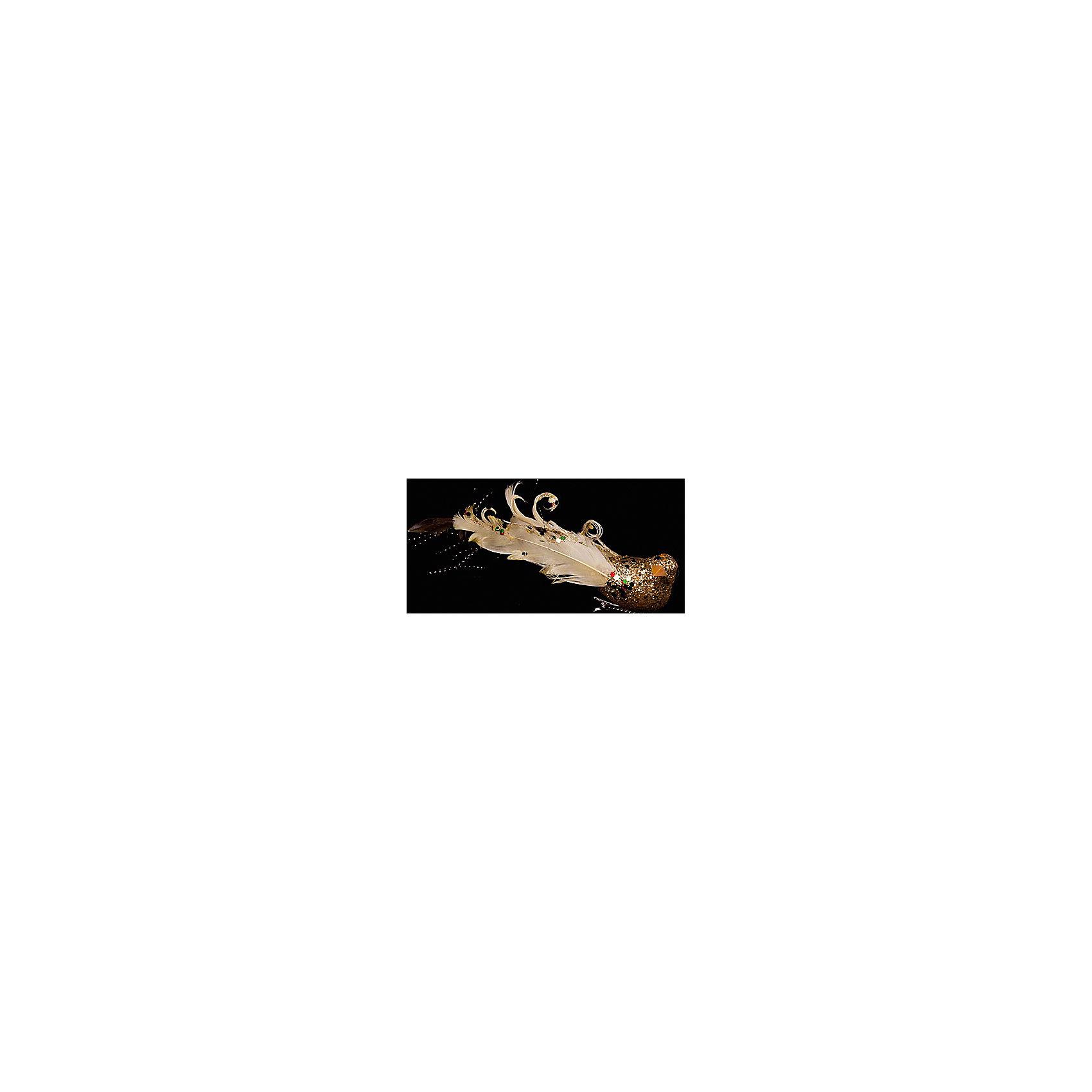 Елочное украшение Птичка, Marko FerenzoВсё для праздника<br>Елочное украшение Птичка, Marko Ferenzo (Марко Ферензо) – это новогоднее украшение замечательно дополнит праздничный интерьер.<br>Елочное украшение Птичка от Marko Ferenzo (Марко Ферензо) прекрасно подойдет для праздничного декора дома и новогодней ели. Украшение выполнено в виде эффектной золотистой птички с нарядным хвостом из перьев. С помощью клипа его можно повесить в любом понравившемся вам месте. Но, конечно, удачнее всего такая игрушка будет смотреться на праздничной елке. Птичка будет мерцать в свете гирлянд, создавая праздничное настроение и волшебную атмосферу в доме. Новогодние украшения приносят в дом ощущение праздника. Создайте в своем доме атмосферу веселья и радости, украшая новогоднюю елку нарядными игрушками, которые будут из года в год накапливать теплоту воспоминаний.<br><br>Дополнительная информация:<br><br>- Цвет: золотая осень<br>- Размер: 15 см.<br><br>Елочное украшение Птичка, Marko Ferenzo (Марко Ферензо) можно купить в нашем интернет-магазине.<br><br>Ширина мм: 150<br>Глубина мм: 40<br>Высота мм: 30<br>Вес г: 139<br>Возраст от месяцев: 36<br>Возраст до месяцев: 2147483647<br>Пол: Унисекс<br>Возраст: Детский<br>SKU: 4418928