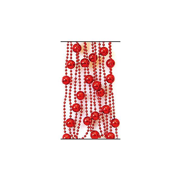 ёл. укр. бусы ШАРИКИ, бол/мал, 2,7 м,красныйНовогодняя мишура и бусы<br>Характеристики:<br><br>• тип игрушки: елочное украшение;<br>• цвет: красный;<br>• размер: 12х22х1 см;<br>• бренд: Marko Ferenzo;<br>• возраст: от 3 лет;<br>• вес: 41 гр;<br>• материал: пластик.<br><br>Елочное украшение бусы «ШАРИКИ» станет отличным дополнением к новогодним украшениям елки или интерьера дома к праздникам. Такое украшение станет актуальным подарком, который позволит заранее подготовиться к празднованию Нового года. С помощью него ребенок сможет сам поучаствовать в подготовке к празднику и украсить дом.<br><br>Эту игрушку может использовать ребенок от трех лет. Это украшение из больших и маленьких шариков красного цвета на веревочке. Длинна ленты – 270 см. Все элементы хорошо приклеены друг к другу качественным клеем и не оторвутся. Такую игрушку можно использовать для украшения новогодней елки или как элемент декора. Использование таких игрушек позволяет ребенку проявить свои творческие способности, пофантазировать или раскрыть талант.<br><br>Все элементы этой игрушки являются абсолютно безопасными для ребенка и изготовлены из высококачественных материалов.<br><br>Елочное украшение бусы «ШАРИКИ» можно купить в нашем интернет-магазине.<br>Ширина мм: 120; Глубина мм: 220; Высота мм: 10; Вес г: 41; Возраст от месяцев: 36; Возраст до месяцев: 2147483647; Пол: Унисекс; Возраст: Детский; SKU: 4418936;