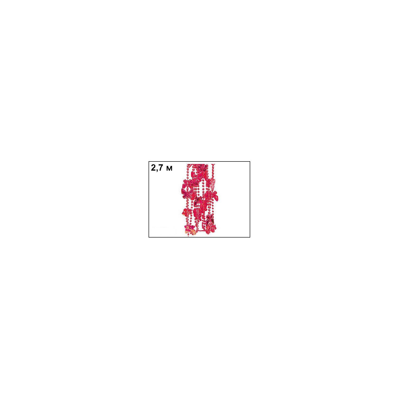 Бусы Бабочки 2,7 м, Marko FerenzoВсё для праздника<br>Бусы Бабочки 2,7 м, Marko Ferenzo (Марко Ферензо) – это великолепное украшение придаст елке особое очарование.<br>Нарядные бусы с большими бабочками от Marko Ferenzo (Марко Ферензо) прекрасно подойдут для декорирования елки и будут идеально сочетаться с огоньками и другими игрушками. Бусы можно использовать не только для того, что бы нарядить зеленую красавицу, ими можно украсить детали интерьера: торшер, полку, всевозможные переключатели и ручки. Украсив елку и предметы интерьера этими бусами, вы создадите атмосферу фантастического праздника. Торговая марка «Marko Ferenzo» (Марко Ферензо) – это стиль, красочность, оригинальность и качество, которому можно доверять!<br><br>Дополнительная информация:<br><br>- Длина: 2,7 м.<br>- Цвет: красный<br><br>Бусы Бабочки 2,7 м, Marko Ferenzo (Марко Ферензо) можно купить в нашем интернет-магазине.<br><br>Ширина мм: 100<br>Глубина мм: 10<br>Высота мм: 100<br>Вес г: 743<br>Возраст от месяцев: 36<br>Возраст до месяцев: 2147483647<br>Пол: Унисекс<br>Возраст: Детский<br>SKU: 4418938