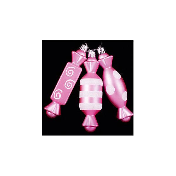 ёл. укр. набор конфет 3шт.PINK DREAMS 12см, розов.Ёлочные игрушки<br>Характеристики:<br><br>• тип игрушки: елочное украшение;<br>• цвет: розовый;<br>• размер: 12х4х12 см;<br>• количество:3 шт;<br>• бренд: Marko Ferenzo;<br>• возраст: от 3 лет;<br>• вес: 39 гр;<br>• материал: пластик.<br><br>Набор конфет 3шт. «PINK DREAMS» 12см, розовый станет отличным дополнением к новогодним украшениям елки или интерьера дома к праздникам. Такое украшение станет актуальным подарком, который позволит заранее подготовиться к празднованию Нового года. С помощью него ребенок сможет сам поучаствовать в подготовке к празднику и украсить дом.<br><br>Эту игрушку из набора  3 шт. может использовать ребенок от трех лет. Елочное украшение от бренда Marko Ferenzo представляет собой три соединенных между собой конфетки в розовом цвете. Игрушка очень утонченная и выгодно оттеняет все остальные украшения на елке.  Пластиковое изделие  практически невесомое. Размер – 12 см.  <br><br>Набор можно использовать для украшения новогодней елки или как элемент декора. Использование игрушек такого типа позволяет ребенку проявить свои творческие способности, пофантазировать или раскрыть талант. Все элементы  являются абсолютно безопасными для ребенка и изготовлены из высококачественных материалов.<br><br>Набор конфет 3шт. «PINK DREAMS» 12см, розовый можно купить в нашем интернет-магазине.<br>Ширина мм: 120; Глубина мм: 40; Высота мм: 120; Вес г: 39; Возраст от месяцев: 36; Возраст до месяцев: 2147483647; Пол: Унисекс; Возраст: Детский; SKU: 4418941;