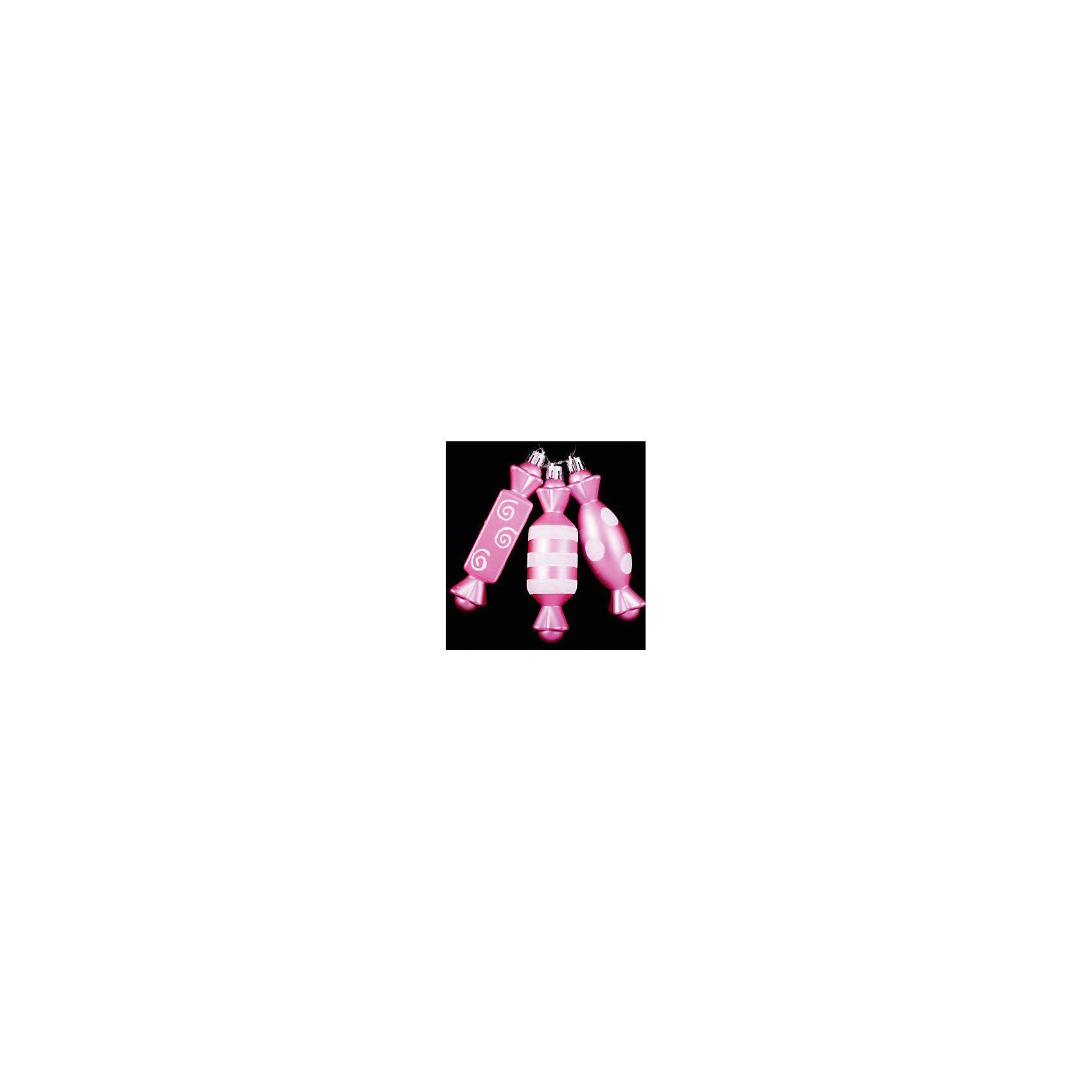 ёл. укр. набор конфет 3шт.PINK DREAMS 12см, розов.Ёлочные игрушки<br>Новогодние  и елочные украшения, в т.ч. пластиковые шары, украшения фигурные, изображающие представителей флоры, фауны, сказочных персонажей, верхушки, бусы, ветки, бантики, гирлянды и фонарики  (без подключения к сети переменного тока), конфетти, мишура, дождик, серпантин,  панно, венки, ели, ленты декоративные<br><br>Ширина мм: 120<br>Глубина мм: 40<br>Высота мм: 120<br>Вес г: 39<br>Возраст от месяцев: 36<br>Возраст до месяцев: 2147483647<br>Пол: Унисекс<br>Возраст: Детский<br>SKU: 4418941