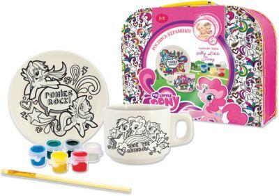 Делай с Мамой Набор для росписи чайной пары Пони , My Little Pony