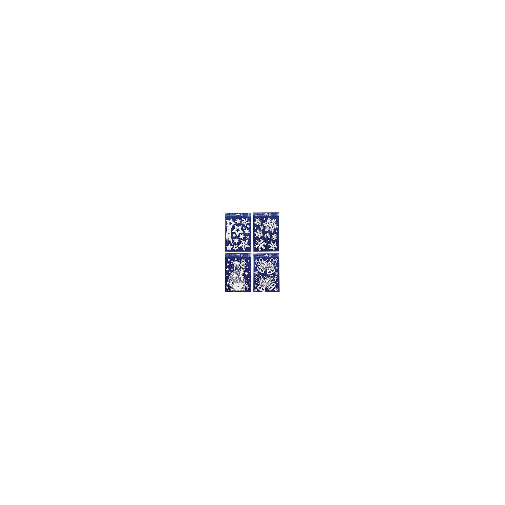 наклейка на стекло Снежное ассорти  30*20 см, в ассортиментеНовогодние наклейки на окна<br>Наклейки для декорирования отдельных предметов и интерьера для создания праздничной атмосферы<br><br>Ширина мм: 300<br>Глубина мм: 18<br>Высота мм: 200<br>Вес г: 61<br>Возраст от месяцев: 36<br>Возраст до месяцев: 2147483647<br>Пол: Унисекс<br>Возраст: Детский<br>SKU: 4418964