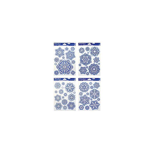 наклейка на стекло Снежинки, 30*20см, в ассортиментеНовогодние наклейки на окна<br>Наклейки для декорирования отдельных предметов и интерьера для создания праздничной атмосферы<br><br>Ширина мм: 300<br>Глубина мм: 200<br>Высота мм: 0<br>Вес г: 60<br>Возраст от месяцев: 36<br>Возраст до месяцев: 2147483647<br>Пол: Унисекс<br>Возраст: Детский<br>SKU: 4418966