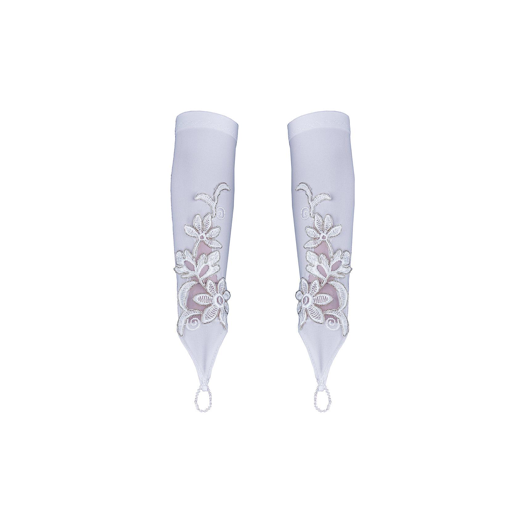Перчатки с вышивкой Шармель