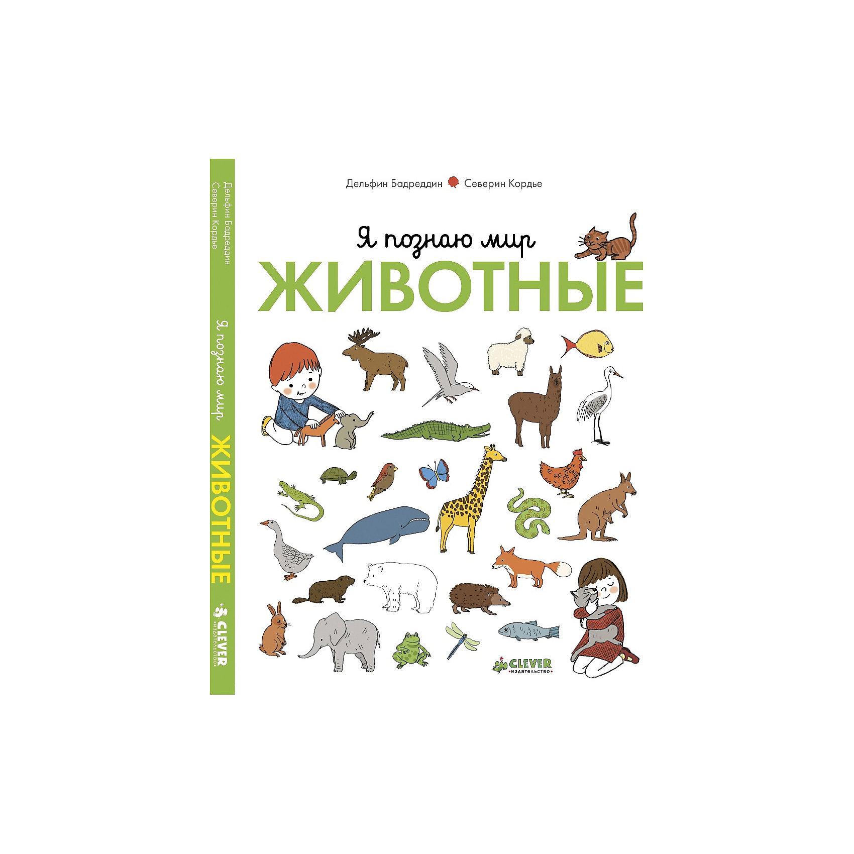 Животные, Я познаю мирС помощью книги «Я познаю мир. Животные» ребёнок познакомится с животными в разных сферах обитания: в доме и в парке, в деревне и в море, в горах и в цирке; узнает об их повадках и месте в жизни человека. А ещё эта книжка - прекрасное пособие по развитию речи: на каждом развороте есть история в картинках. Предложите ребёнку описать то, что происходит в тексте, пересказать и определить главных героев в повествовании. Таким образом, вы научите малышей первичной работе с текстом, заложите основы чтения и понимания текста, а также разовьете его творческие способности и воображение. <br><br>Дополнительная информация:<br><br>- Автор: Кордье Северин, Бадреддин Дельфин.<br>- Переводчик: Киктева Мария.<br>- Формат: 22,8х18,2 см.<br>- Количество страниц: 50.<br>- Переплет: твердый.<br>- Иллюстрации: цветные.<br><br>Книгу Животные. Я познаю мир, можно купить в нашем магазине.<br><br>Ширина мм: 175<br>Глубина мм: 220<br>Высота мм: 10<br>Вес г: 290<br>Возраст от месяцев: 0<br>Возраст до месяцев: 36<br>Пол: Унисекс<br>Возраст: Детский<br>SKU: 4419565