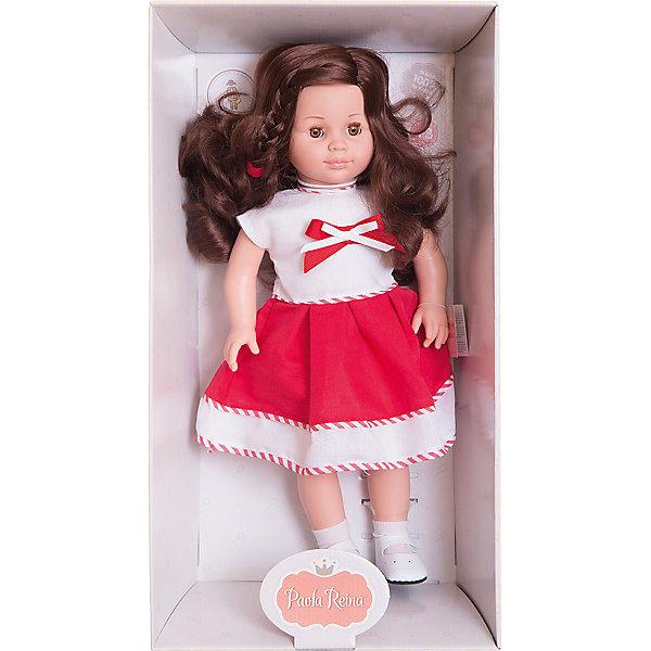 Кукла Вики, 47 см, Paola ReinaБренды кукол<br>Эта очаровательная куколка приведет в восторг любую девочку! Кукла имеет мягконабивное тело и скелетный каркас, благодаря этому у нее вращаются руки и ноги (вдоль тела и на 360 градусов). Тело куклы может немного сгибаться в талии. Очаровательная Вики так похожа на маленькую озорную девочку! Она одета в милое бело-красное платье, украшенное тесьмой и бантиком, на ногах - белые носочки и маленькие туфельки. Темные блестящие волосы куколки так приятно расчесывать, создавая всевозможные прически. Куклы Паола Рейна имеют нежный ванильный аромат, одеты в модную одежду с аксессуарами. Выразительная мимика, уникальный и неповторимый дизайн лица и тела делают эти игрушки запоминающимися и уникальными. Куклы изготовлены из высококачественных нетоксичных материалов, абсолютно безопасны для детей. <br><br>Дополнительная информация:<br><br>- Материалы: кукла изготовлена из винила и текстиля; глаза выполнены в виде кристалла из прозрачного твердого пластика; волосы сделаны из высококачественного нейлона, одежда - текстиль.<br>- Размер: 47 см.<br>- Комплектация: кукла в одежде и обуви. <br>- Голова, ручки, ножки куклы подвижные.<br>- Мягконабивное тело.<br>- Нельзя мыть.<br>- Глаза закрываются.<br><br>Куклу Вики, 47 см, Paola Reina (Паола Рейна), можно купить в нашем магазине.<br>Ширина мм: 290; Глубина мм: 155; Высота мм: 540; Вес г: 1500; Возраст от месяцев: 36; Возраст до месяцев: 144; Пол: Женский; Возраст: Детский; SKU: 4420321;